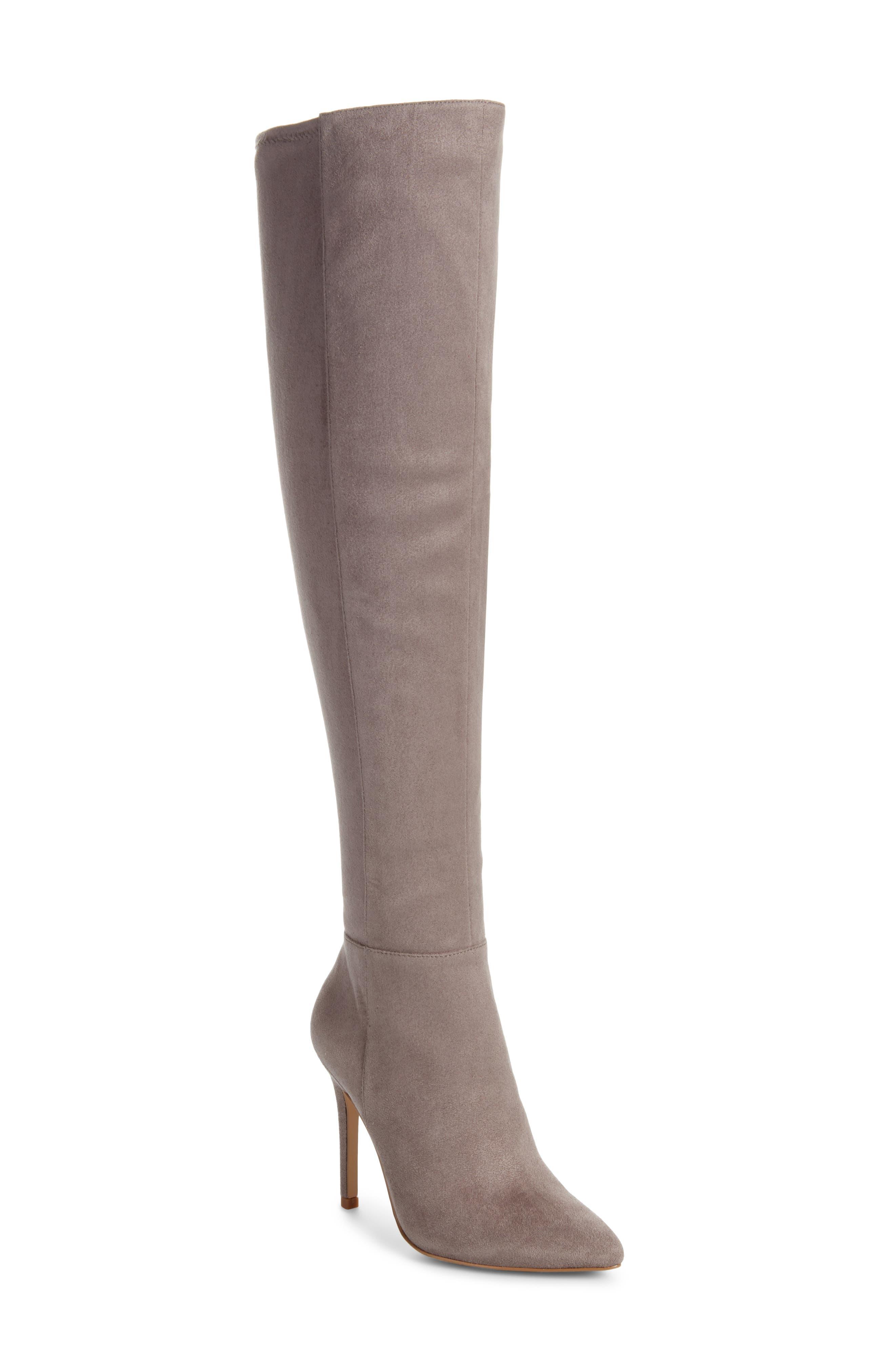 Charles By Charles David Debutante Thigh High Boot- Grey