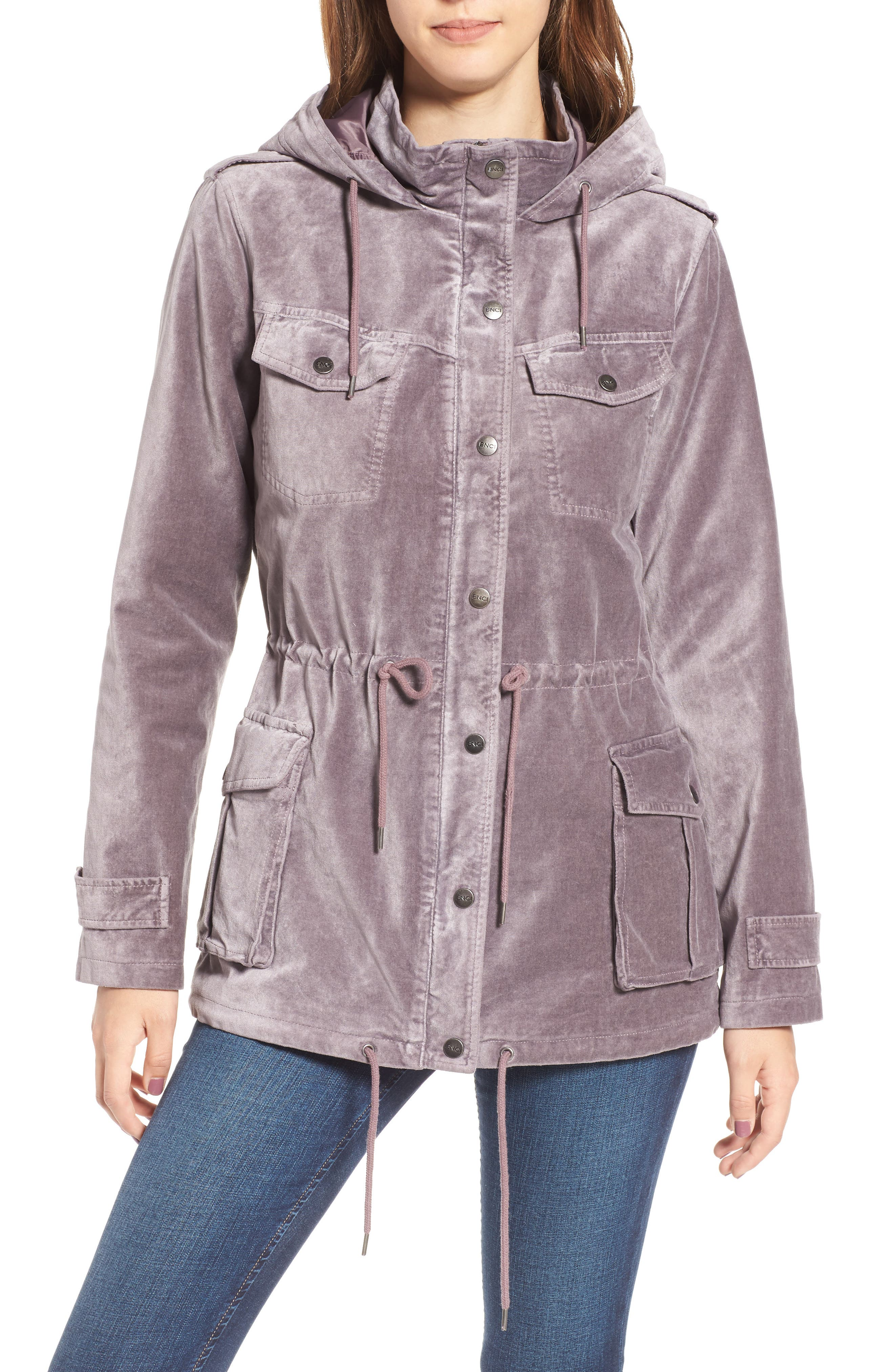 BNCI Cotton Velveteen Hooded Anorak Jacket,                             Alternate thumbnail 8, color,