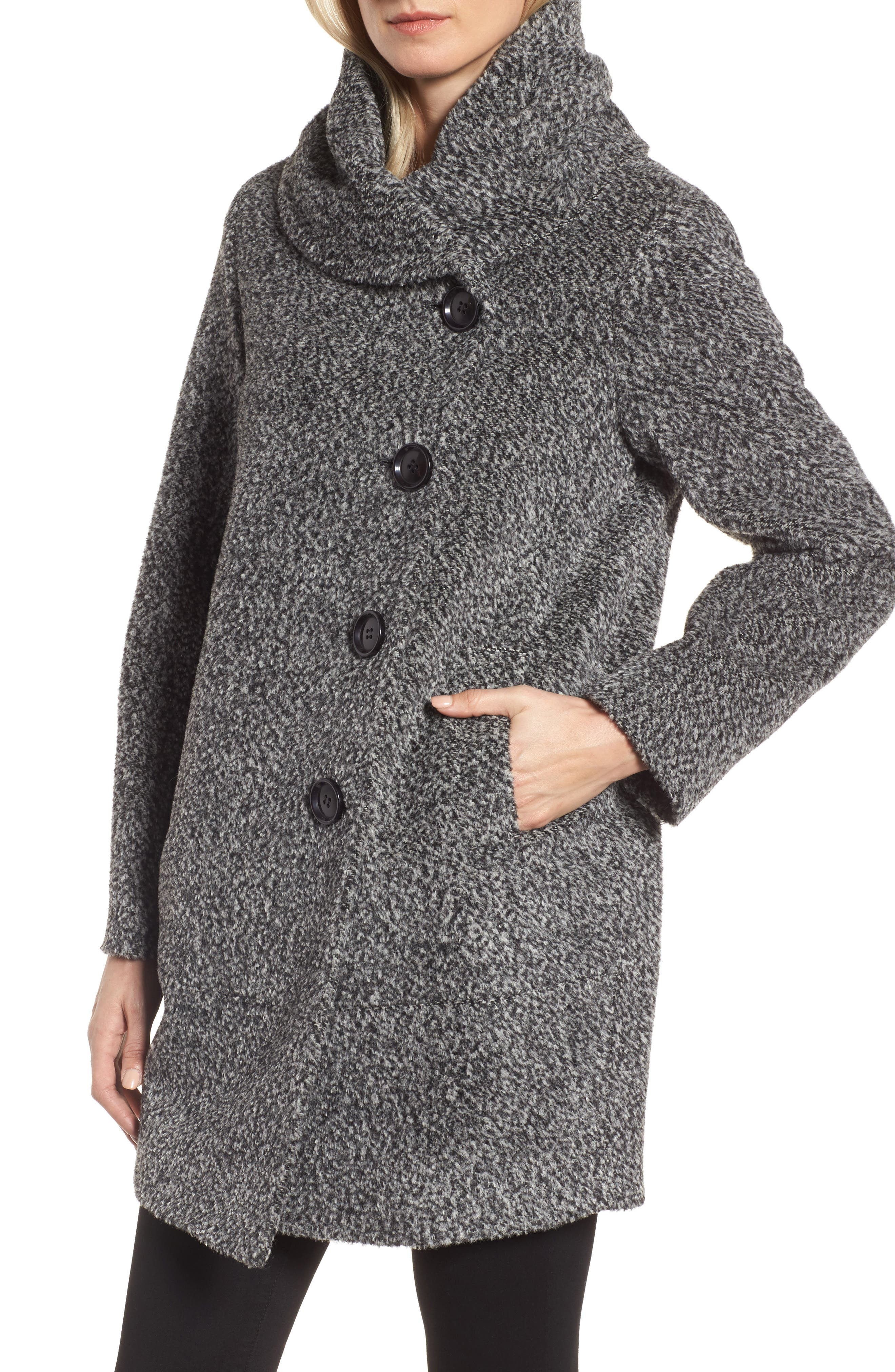 Wool Blend Coat,                             Alternate thumbnail 4, color,                             011