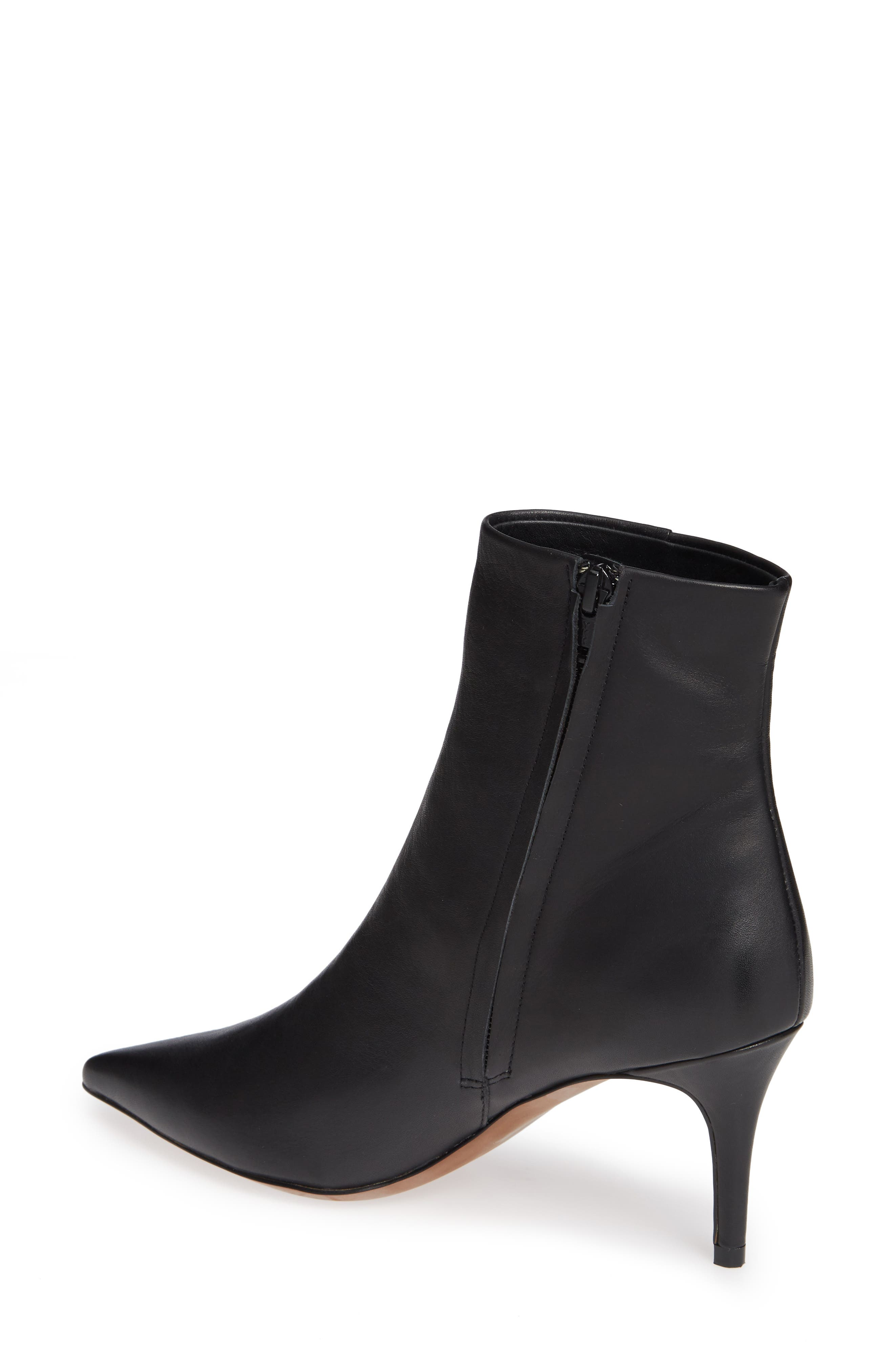 Nita Bootie,                             Alternate thumbnail 2, color,                             BLACK LEATHER
