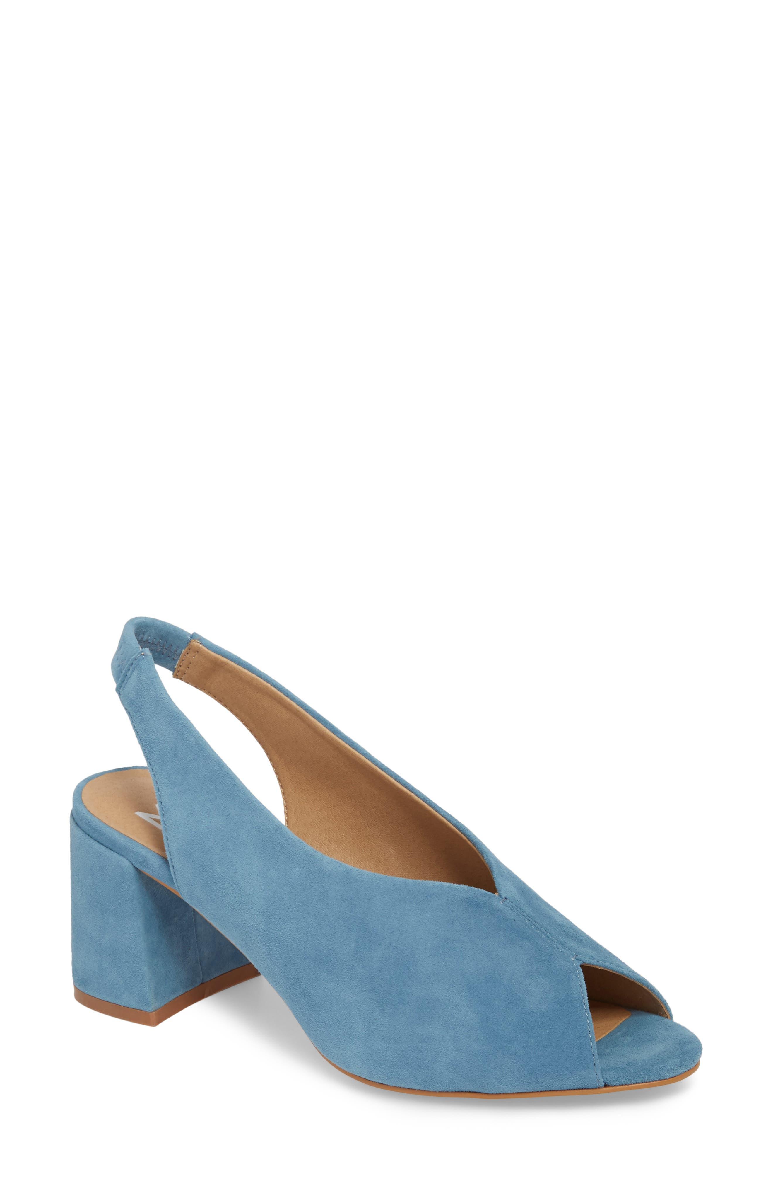 M4D3 Safi Slingback Sandal,                         Main,                         color, AEGEAN SUEDE