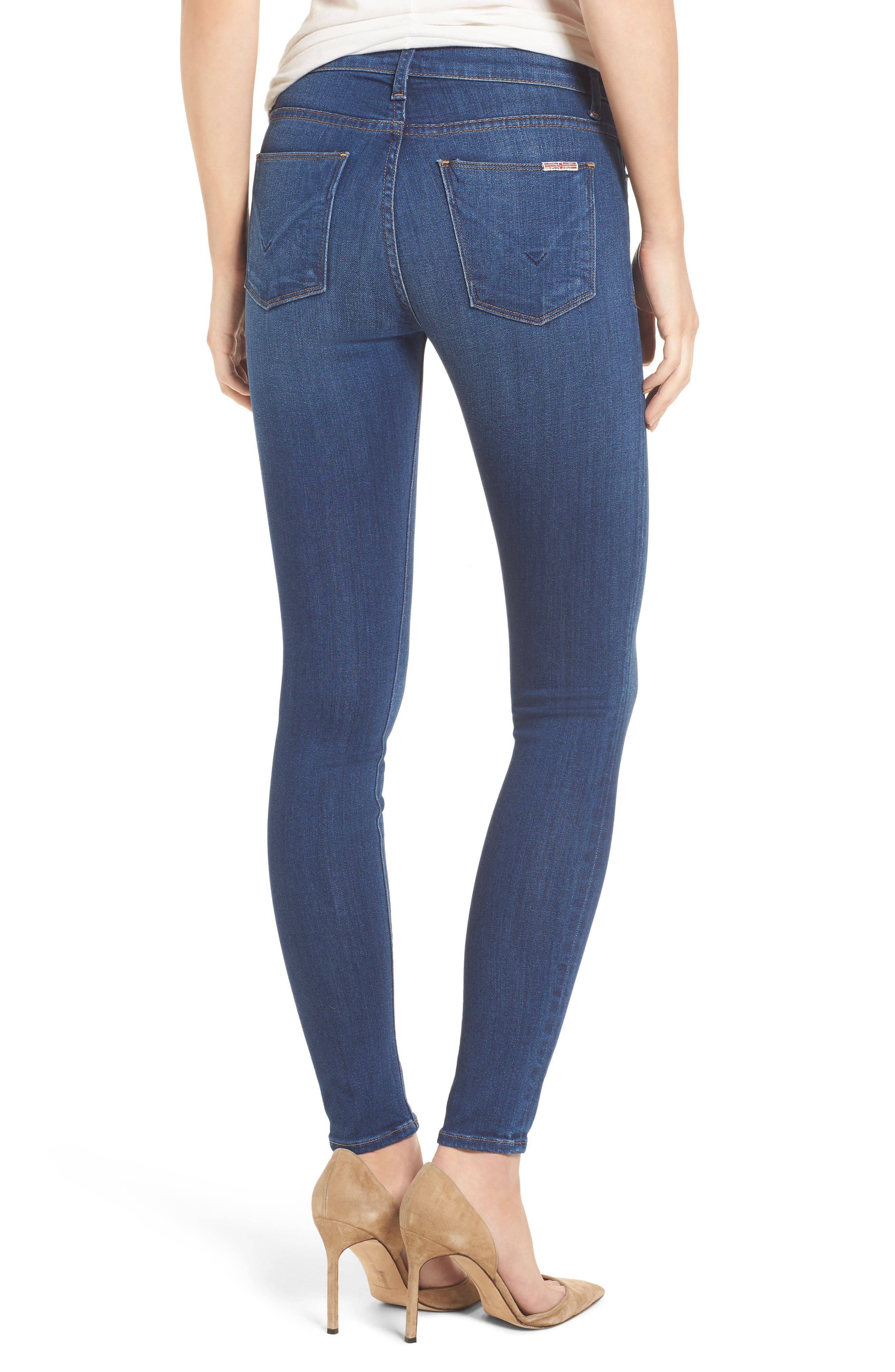 Hudson Nico Mid Rise Super Skinny Jeans,                             Alternate thumbnail 2, color,                             420