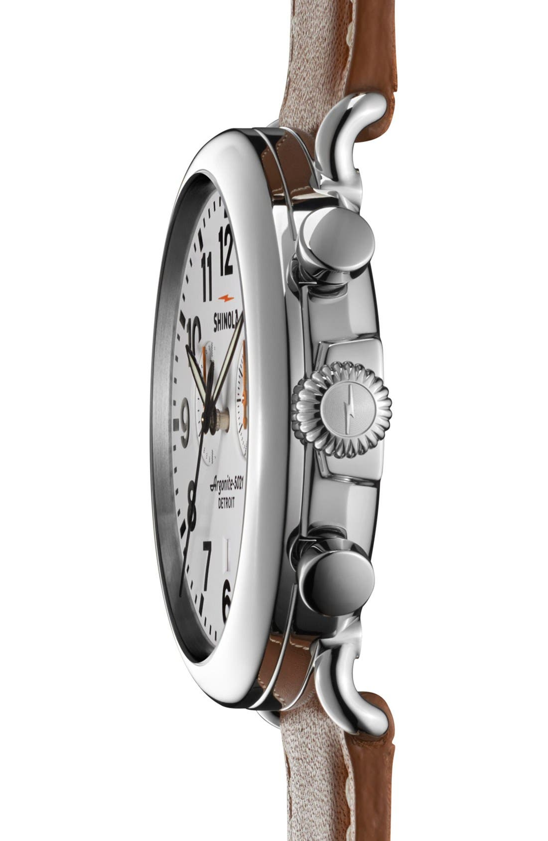 The Runwell Chrono Leather Strap Watch, 47mm,                             Alternate thumbnail 24, color,