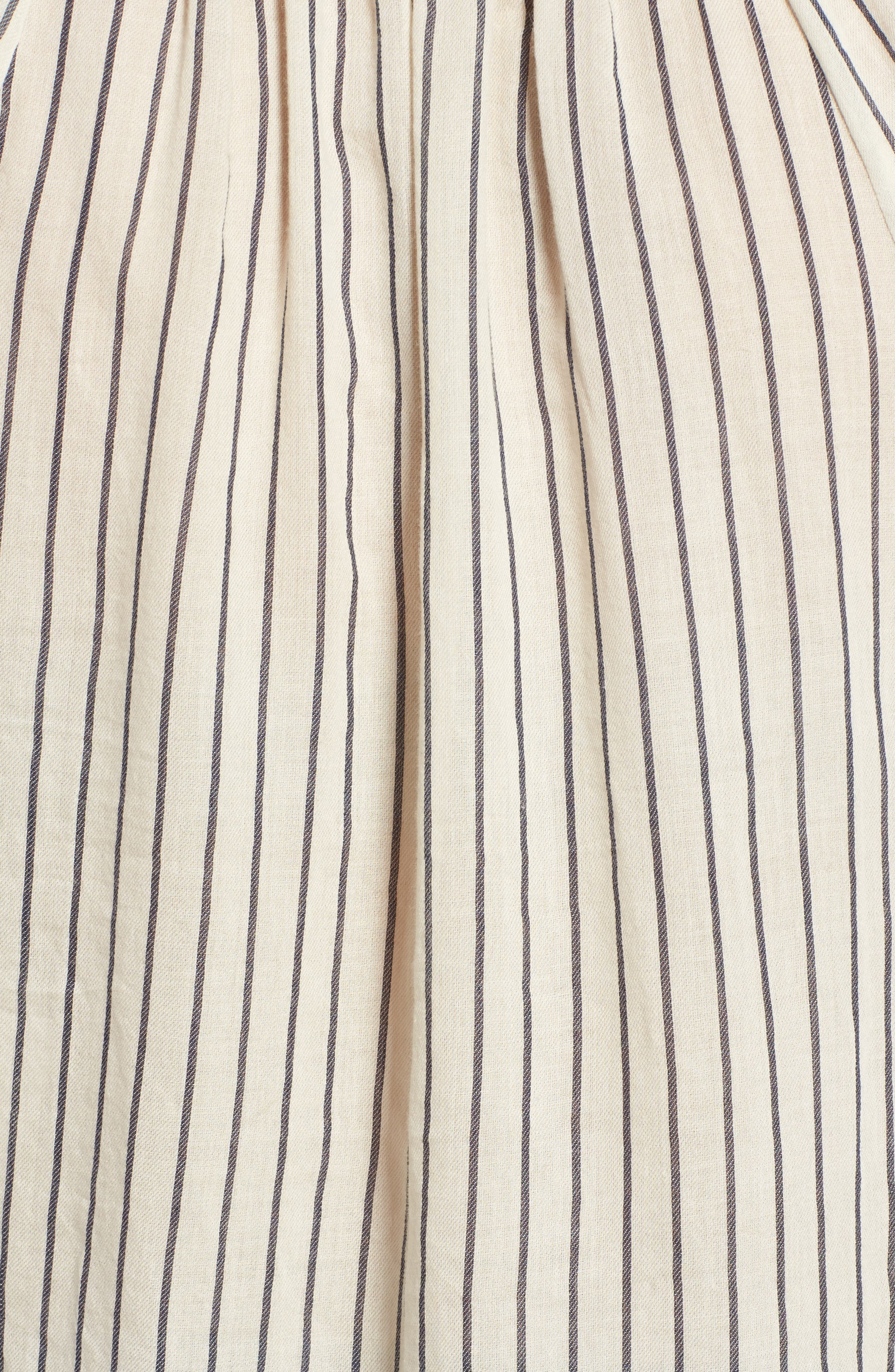 Stripe Peasant Blouse,                             Alternate thumbnail 5, color,                             006
