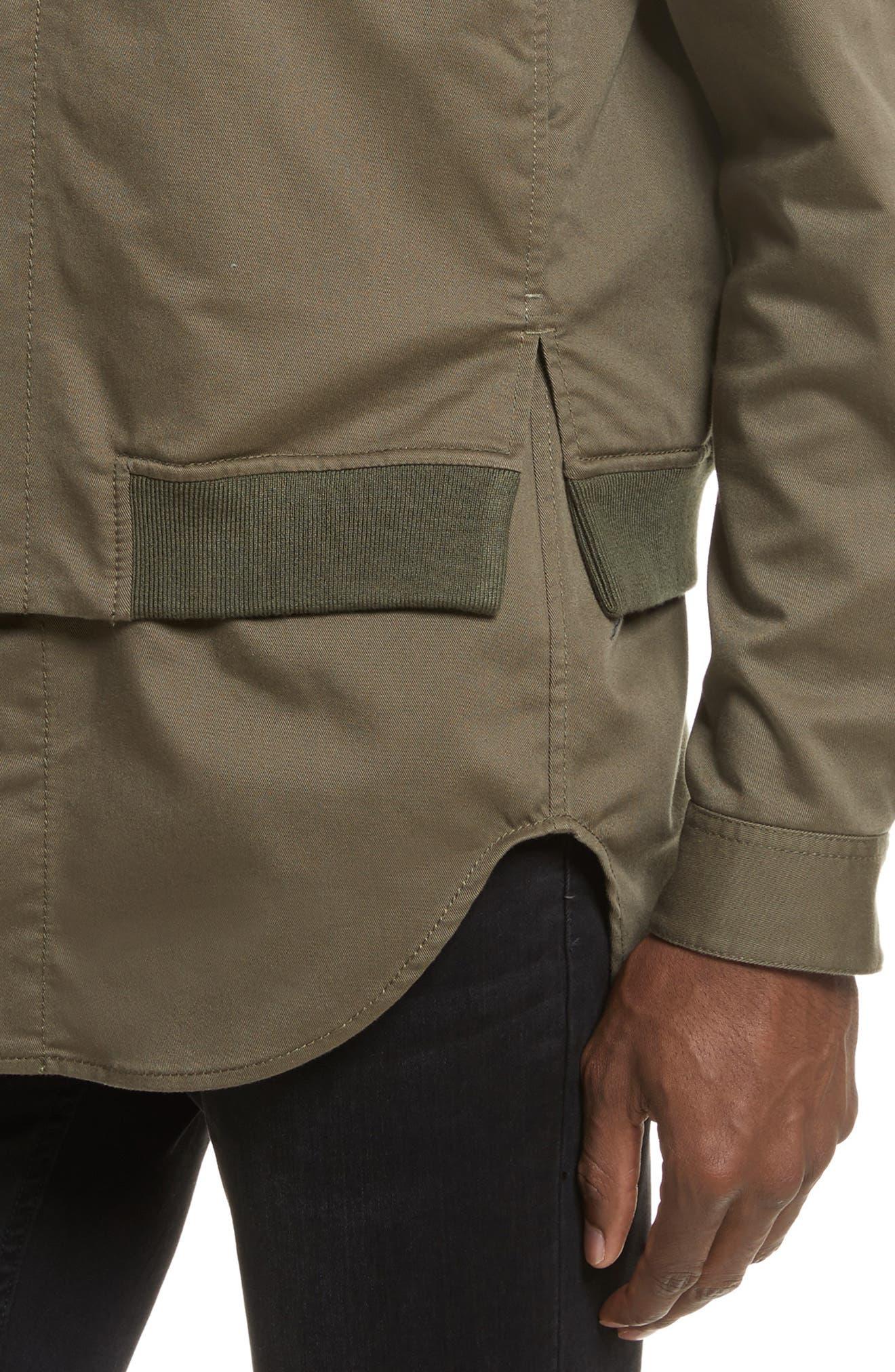 Bomber Shirt Jacket,                             Alternate thumbnail 4, color,                             ARMY