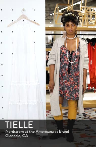 Halter Neck Cotton Maxi Dress, sales video thumbnail