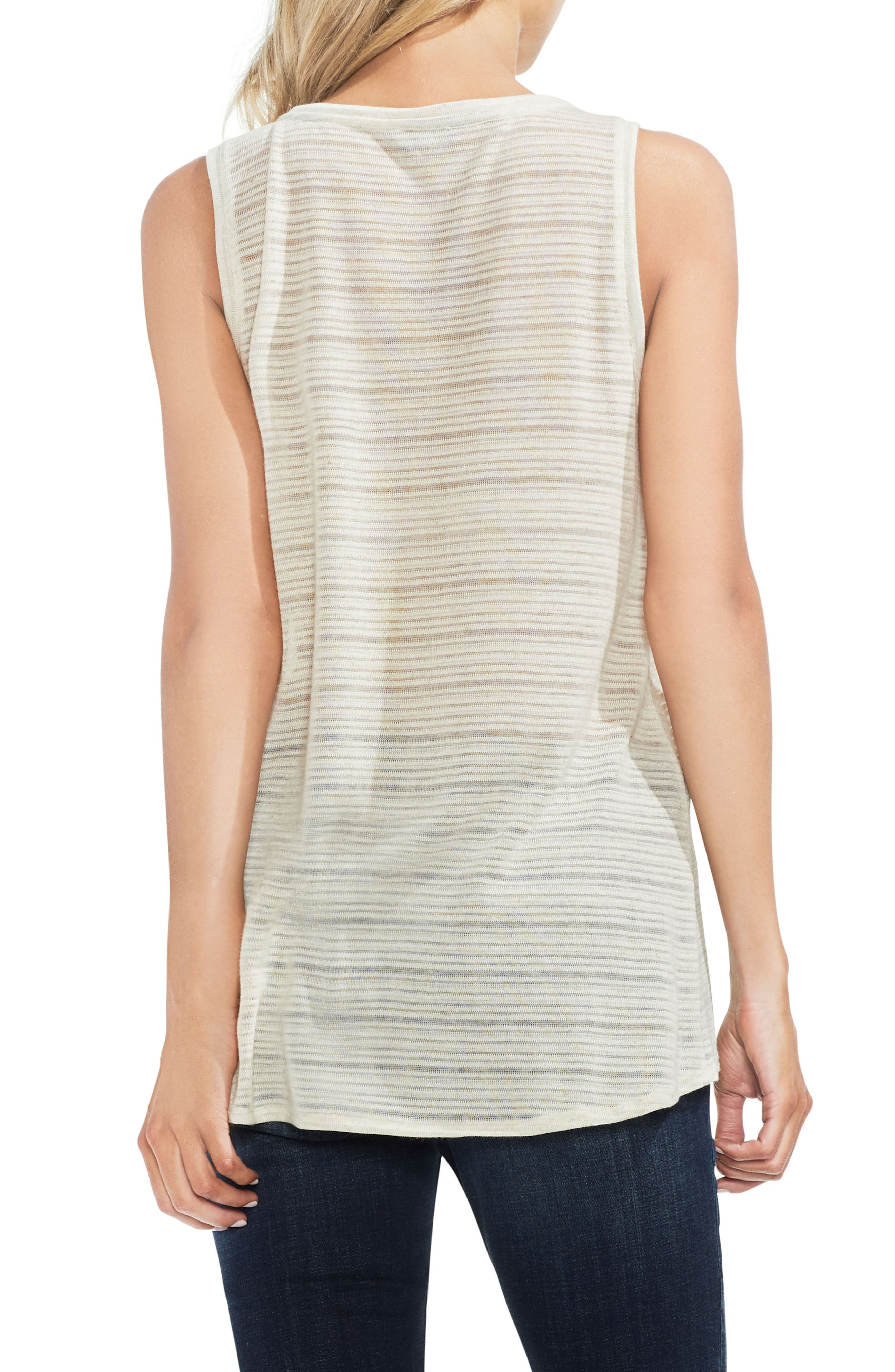 Mixed Texture Tank,                             Alternate thumbnail 2, color,