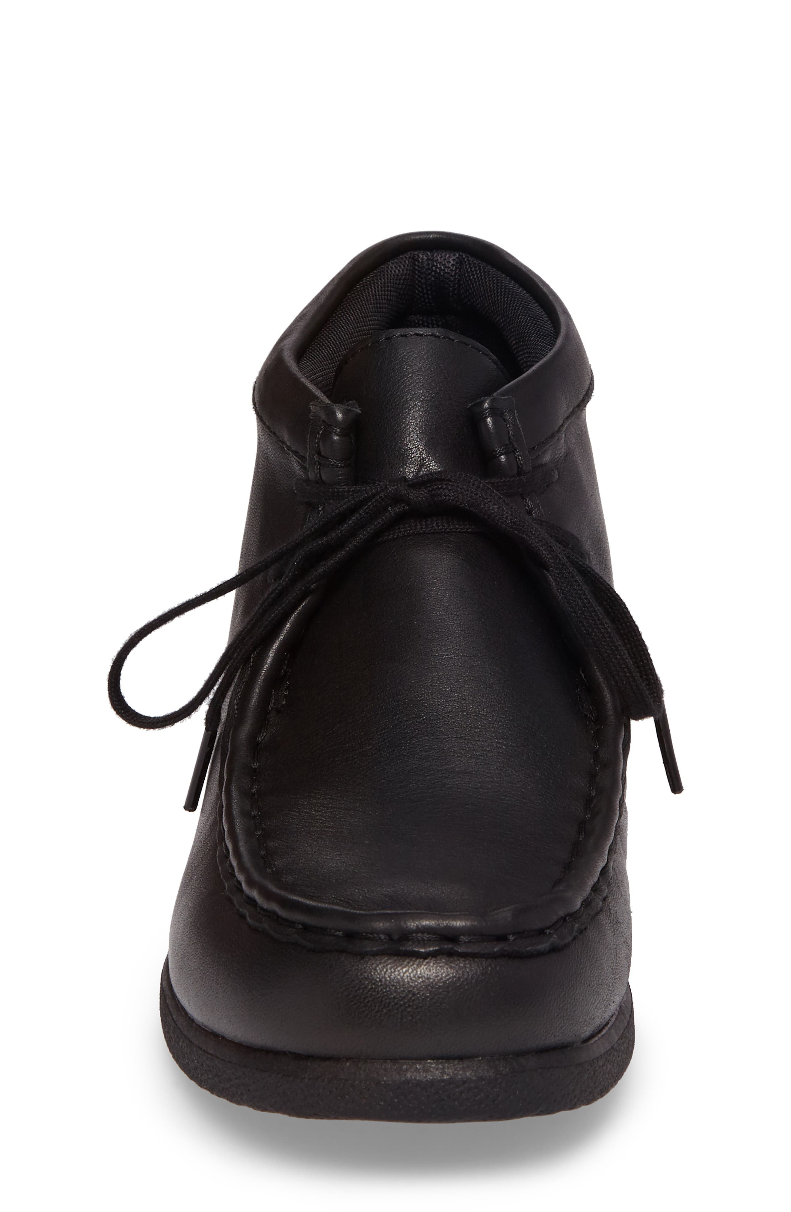 HUSH PUPPIES<SUP>®</SUP>,                             Bridgeport III Chukka Boot,                             Alternate thumbnail 4, color,                             BLACK LEATHER