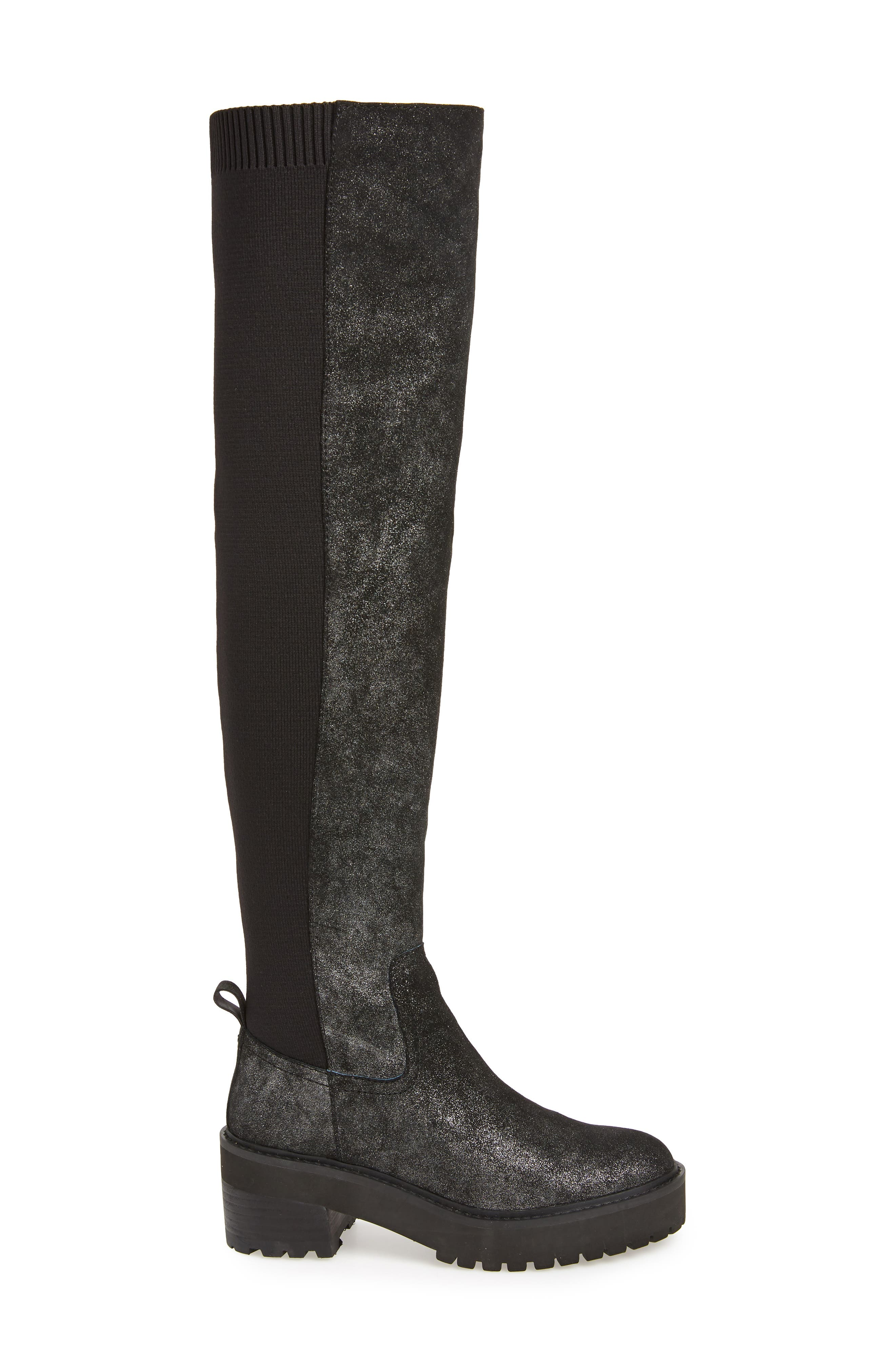 Lindy Over the Knee Boot,                             Alternate thumbnail 3, color,                             001