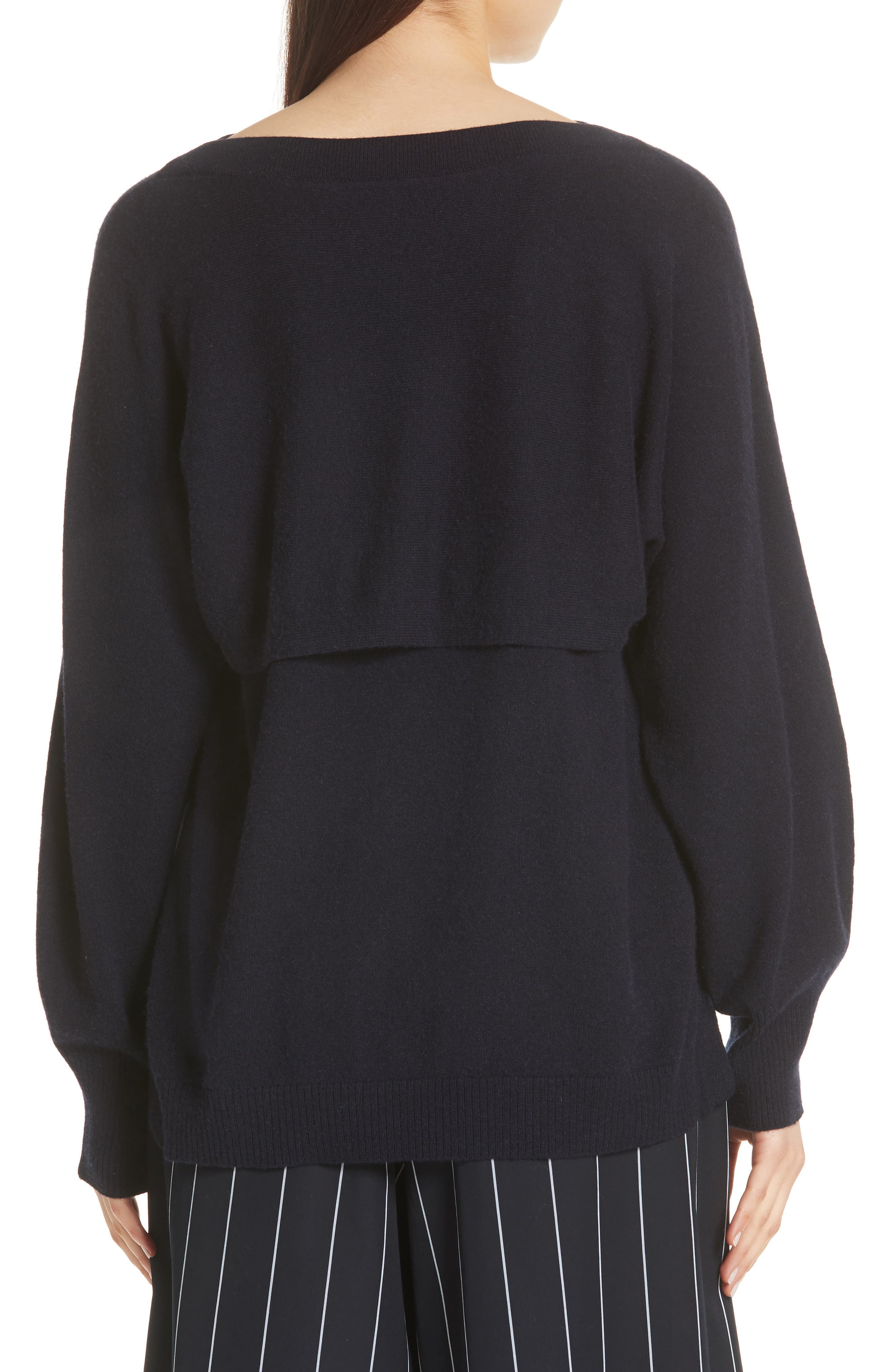 Layered Back Wool Cashmere Boatneck Sweater,                             Alternate thumbnail 2, color,                             403