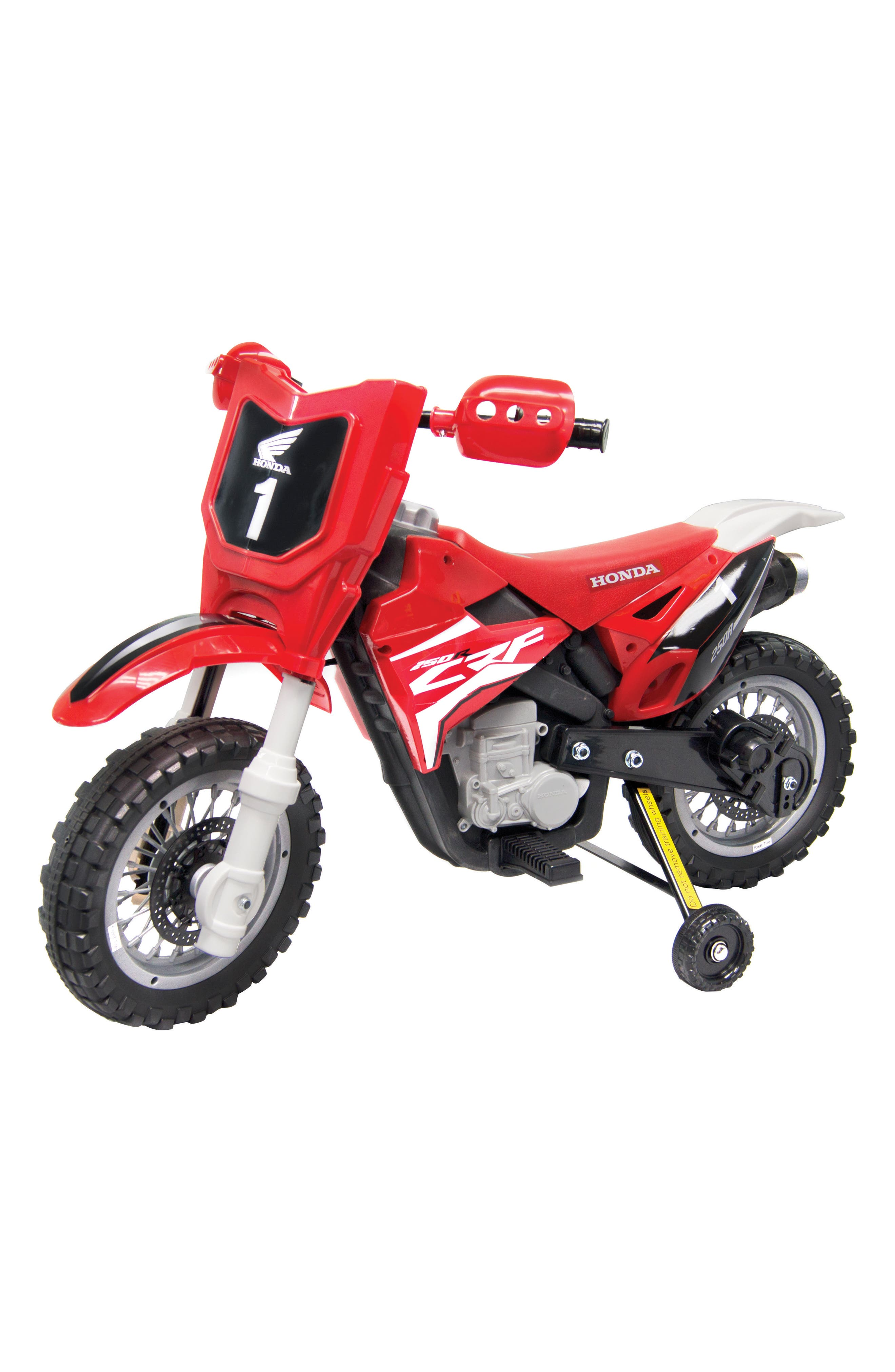 Honda Dirt Bike Ride-On Toy Motorcycle,                             Alternate thumbnail 6, color,                             RED