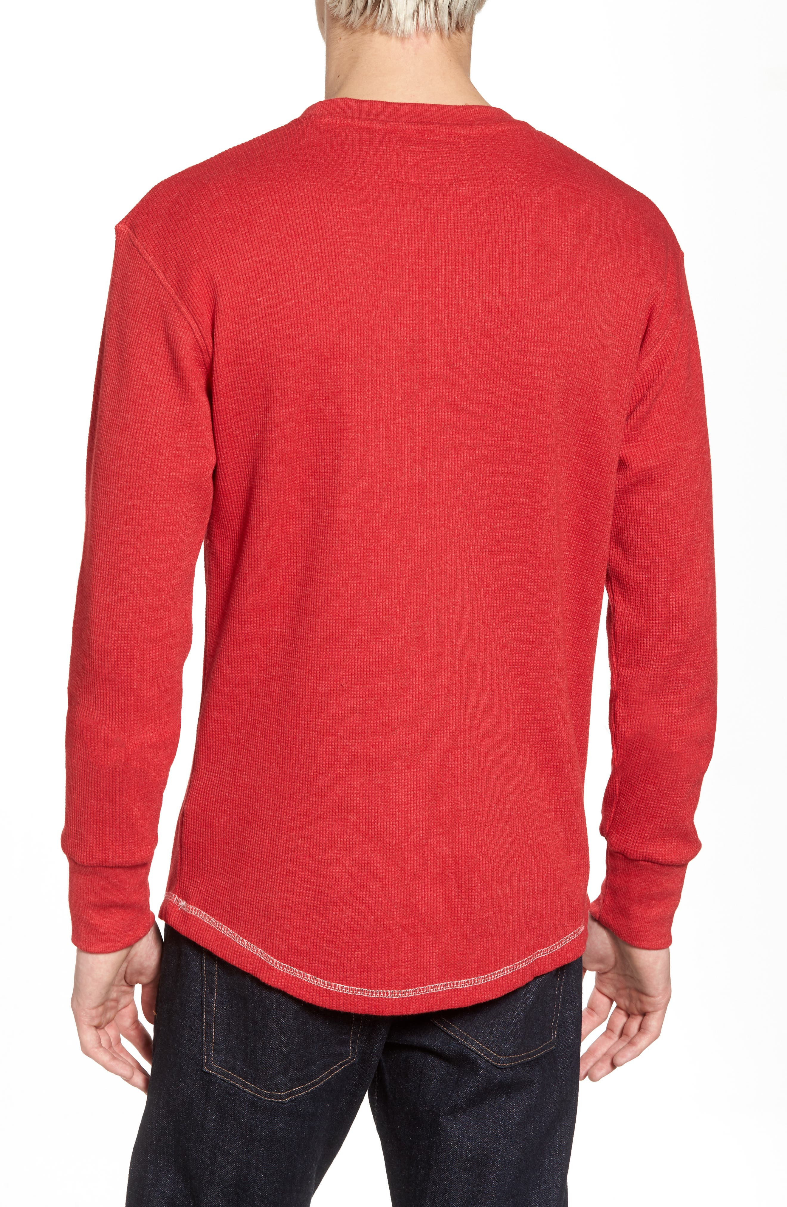 Detroit Red Wings Embroidered Long Sleeve Thermal Shirt,                             Alternate thumbnail 2, color,                             600