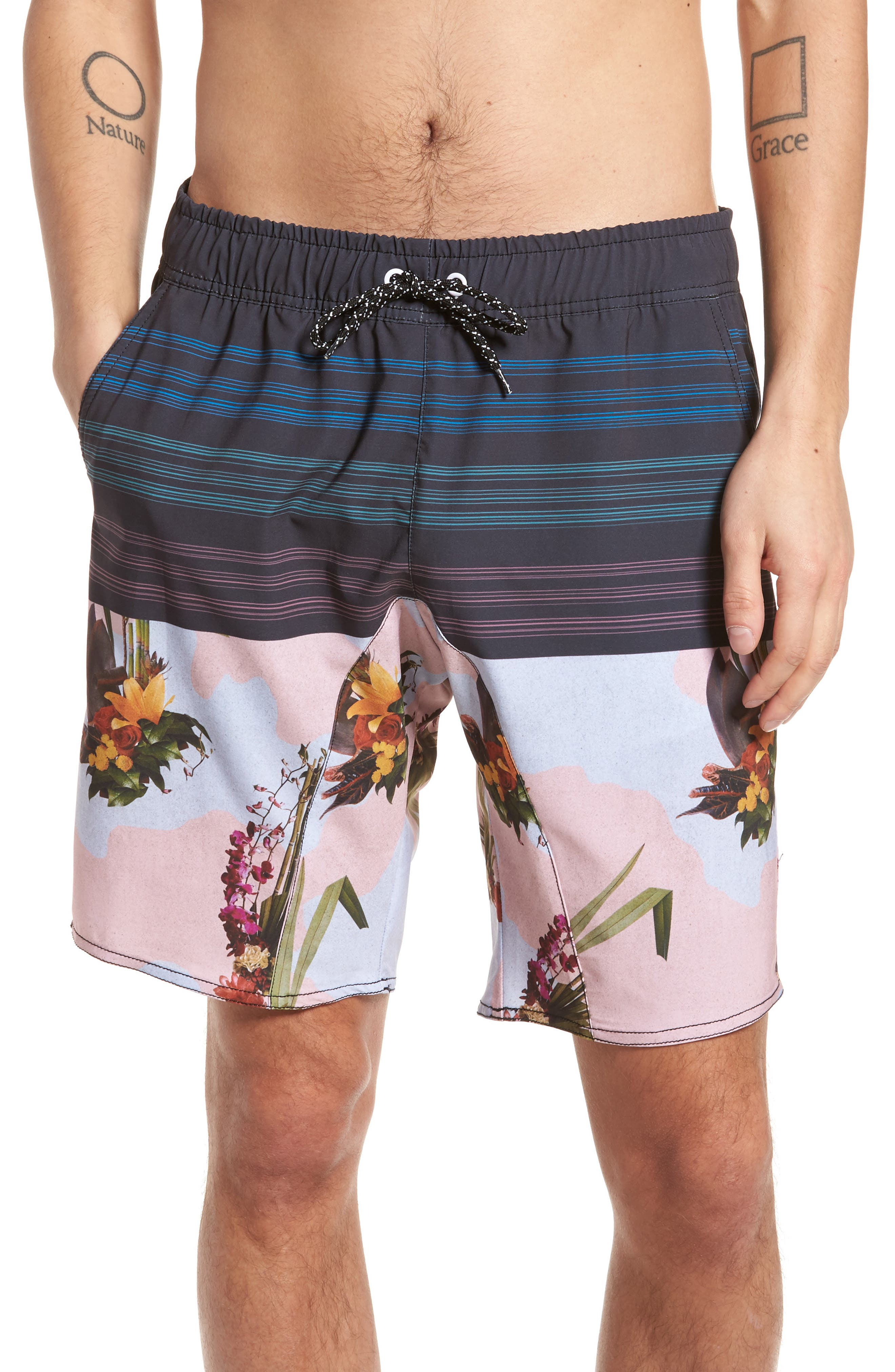 Oasis Swim Shorts,                         Main,                         color, 001