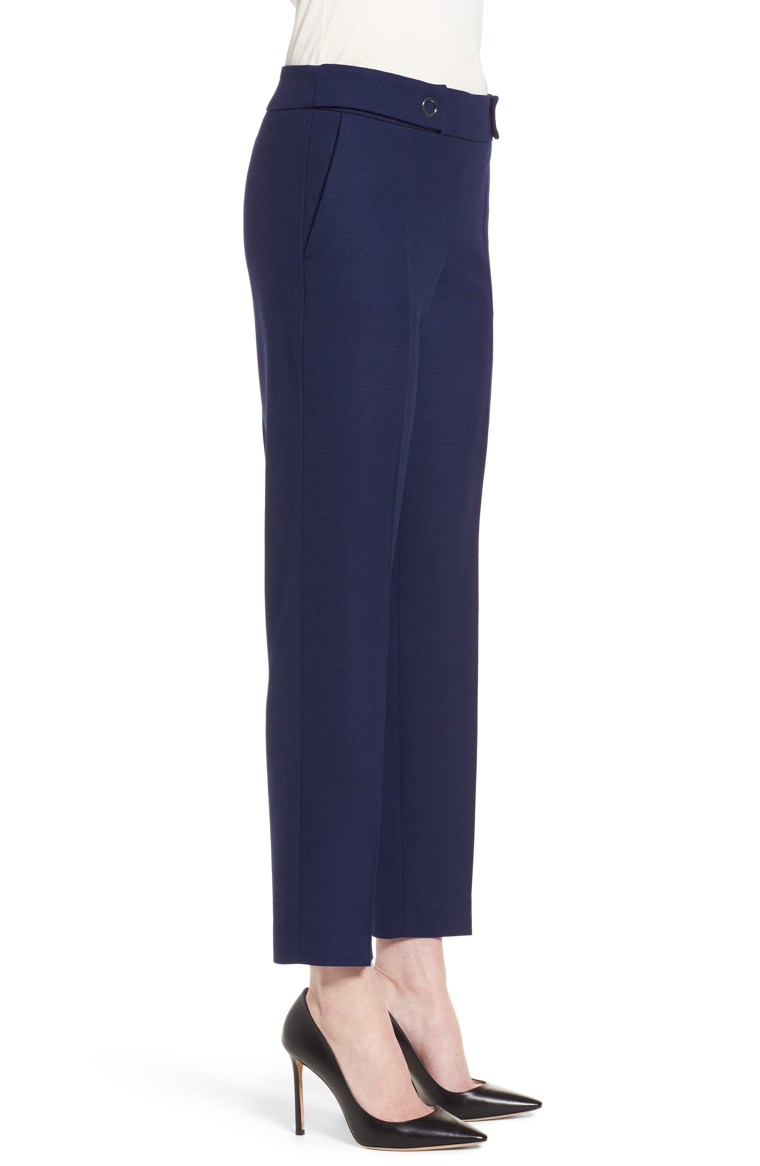 Tibalena Textured Stretch Wool Suit Pants,                             Alternate thumbnail 3, color,                             425