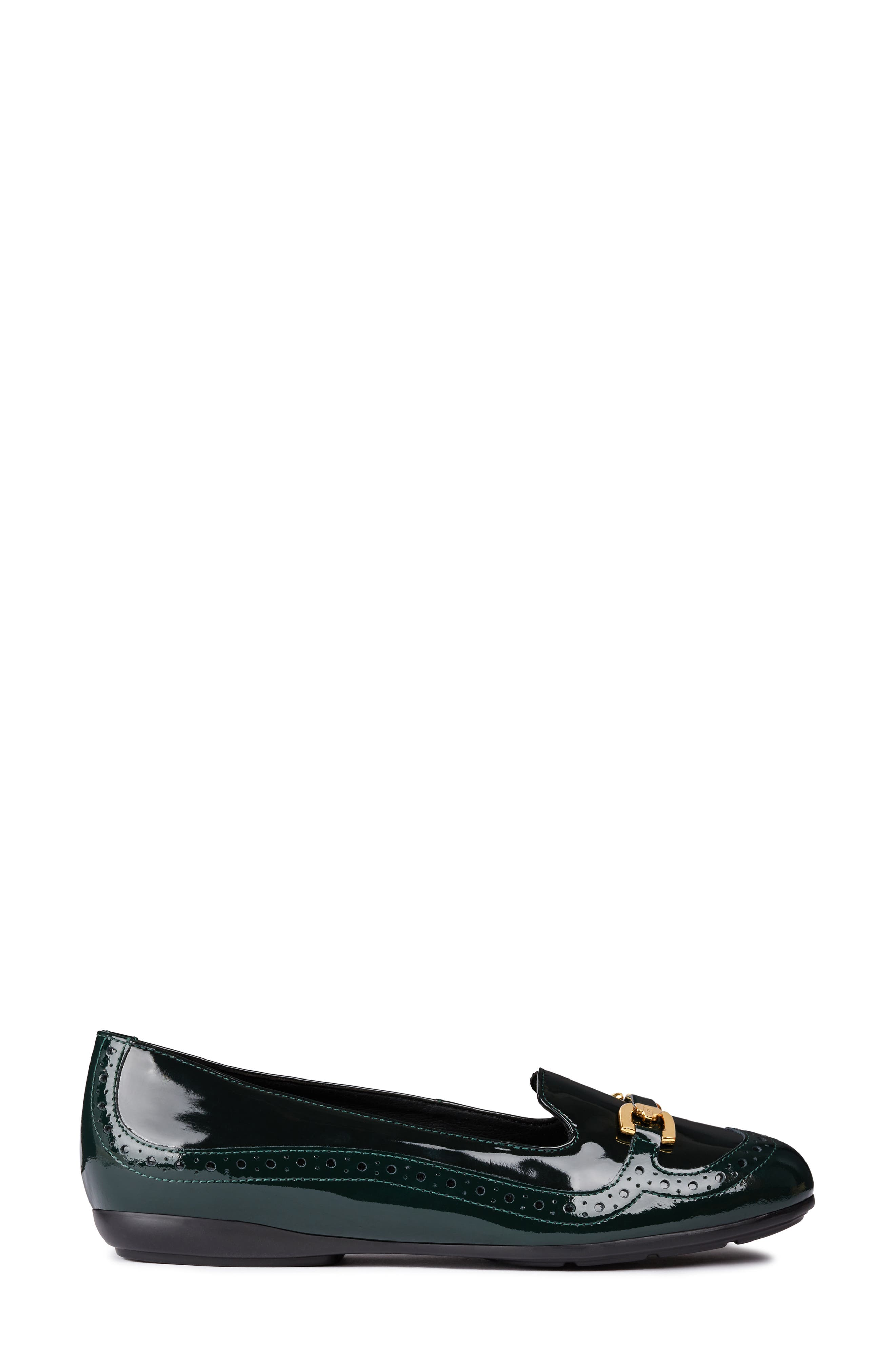Annytah Loafer,                             Alternate thumbnail 3, color,                             FOREST FAUX PATENT LEATHER