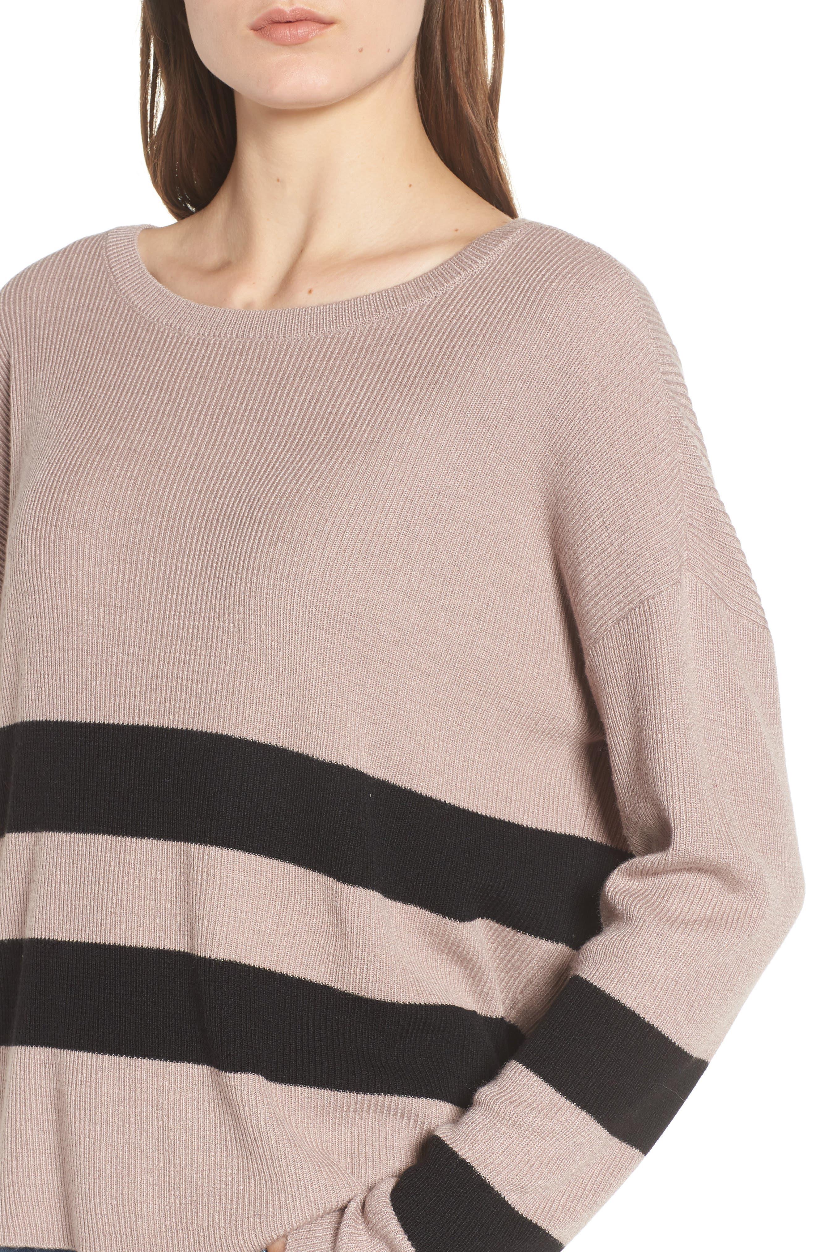 Varsity Stripe Sweater,                             Alternate thumbnail 4, color,                             030
