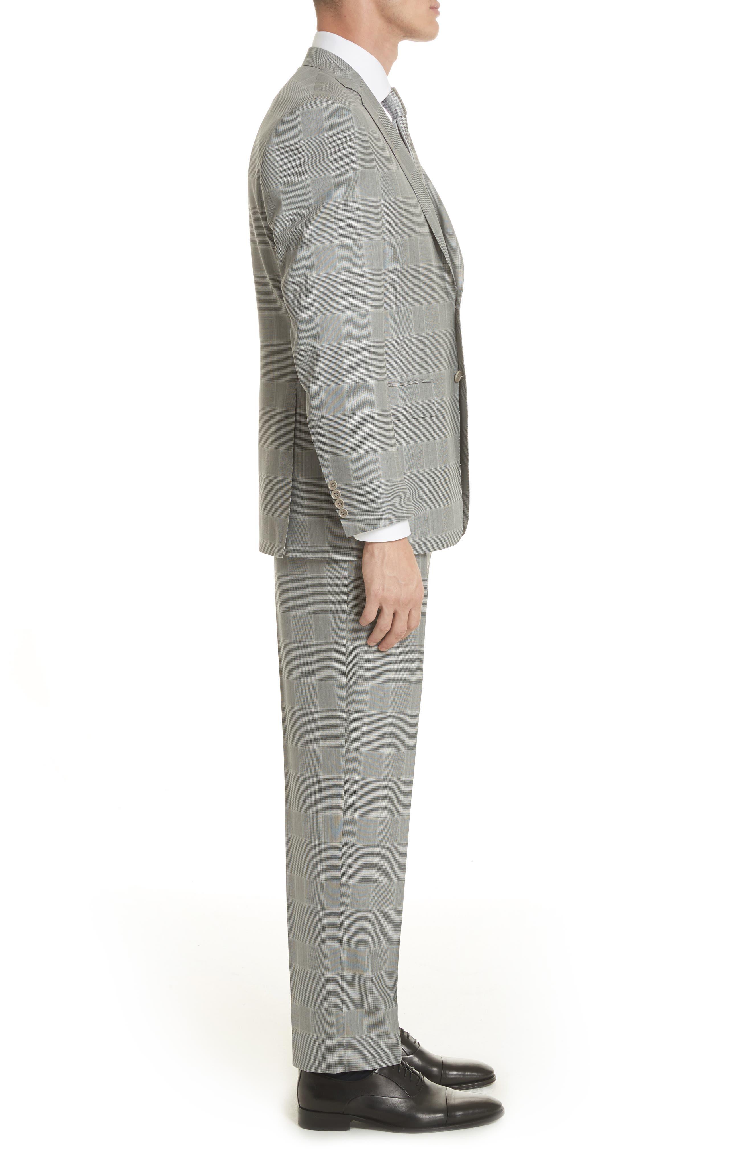 Classic Fit Plaid Wool Suit,                             Alternate thumbnail 3, color,                             020