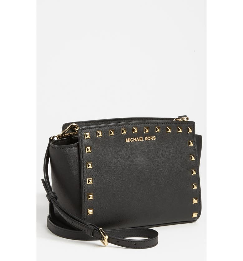 MICHAEL Michael Kors  Selma - Stud  Saffiano Leather Crossbody Bag ... 7518ddcb4185a