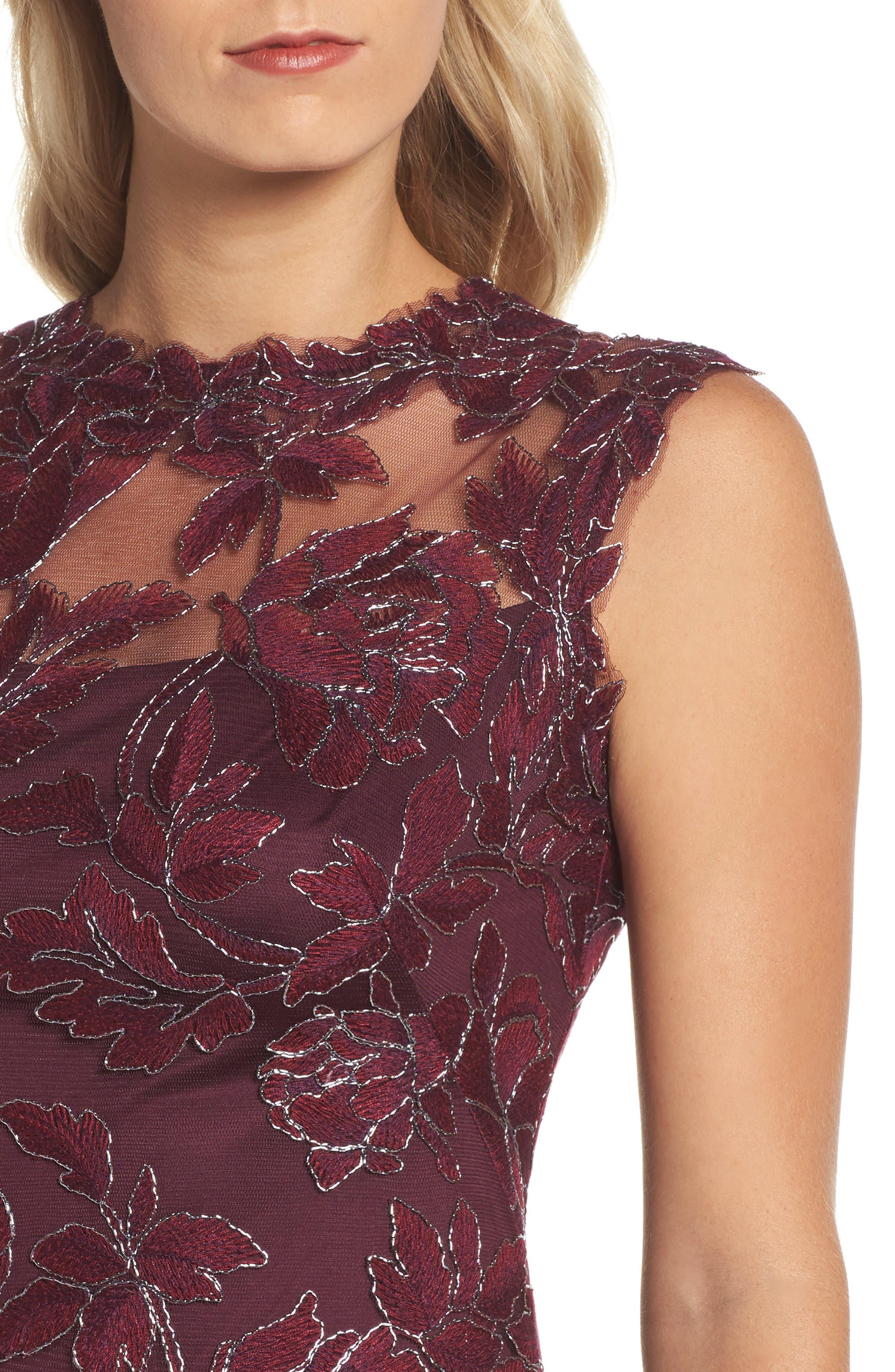 Noelle Floral Fit & Flare Dress,                             Alternate thumbnail 4, color,                             572