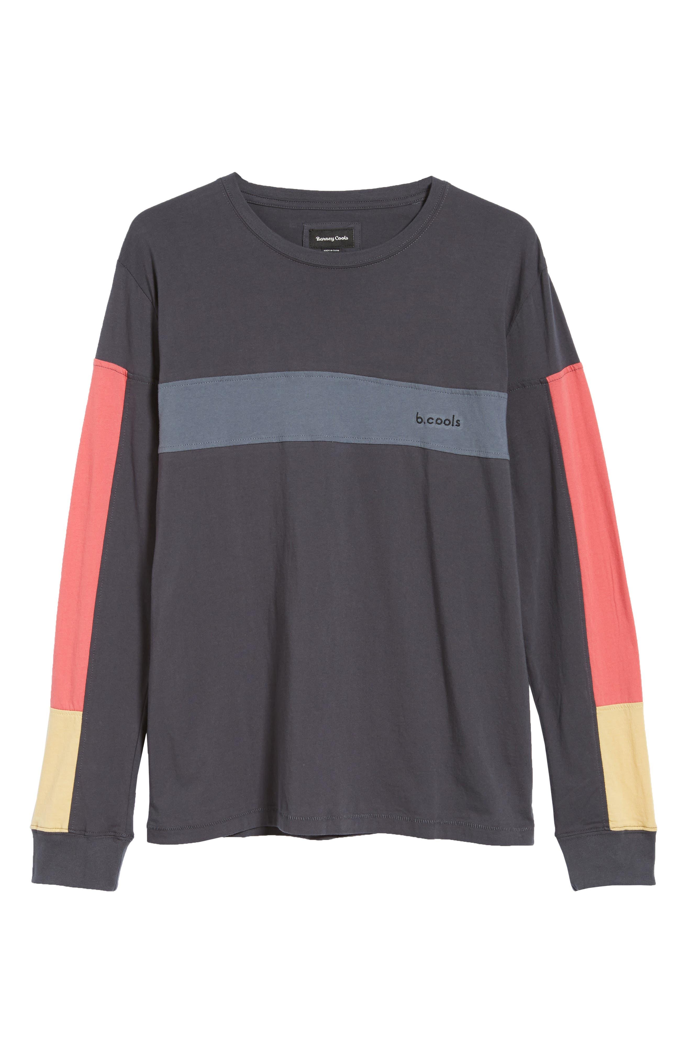 BARNEY COOLS,                             B Quick Colorblock Long Sleeve T-Shirt,                             Alternate thumbnail 6, color,                             001