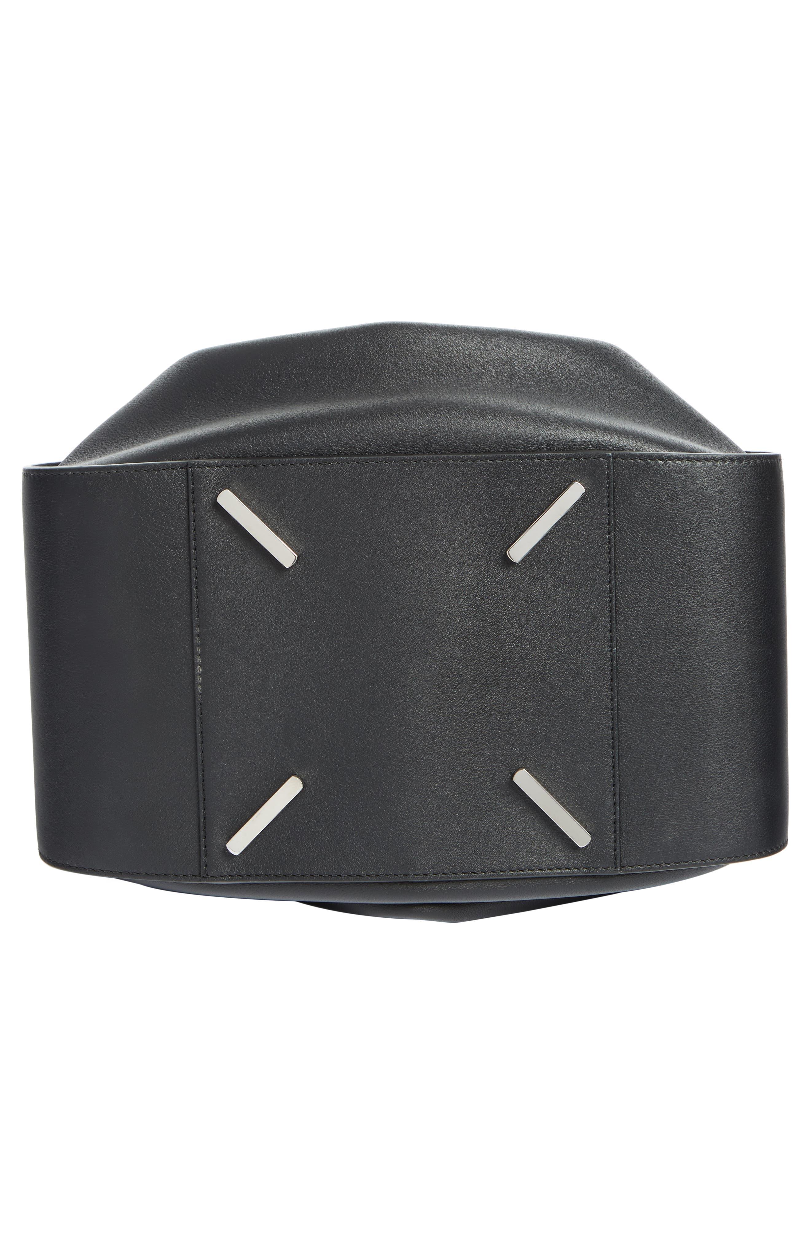 Medium Hammock Calfskin Leather Shoulder Bag,                             Alternate thumbnail 5, color,                             BLACK