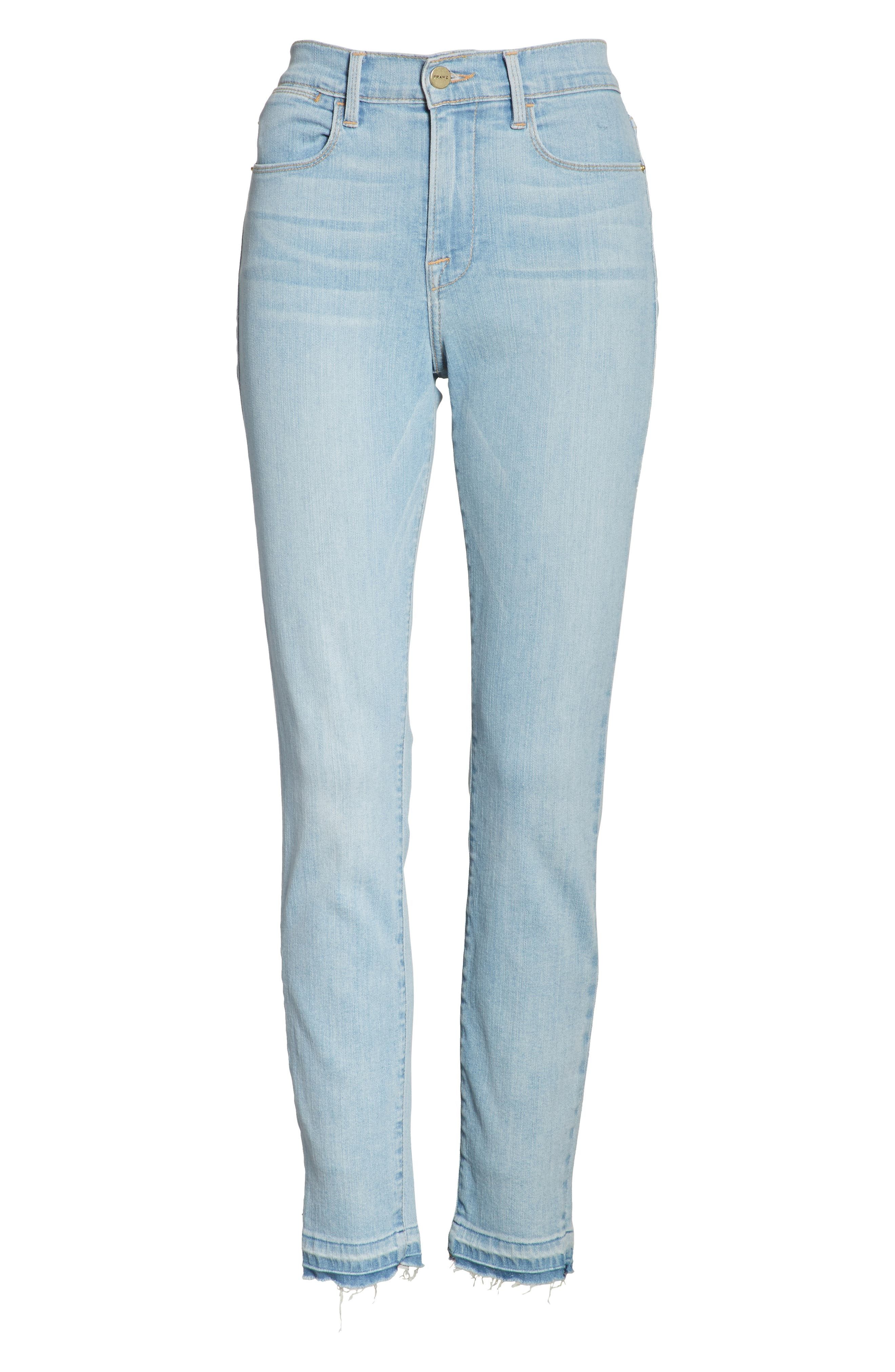 Le High Skinny Crop Jeans,                             Alternate thumbnail 6, color,