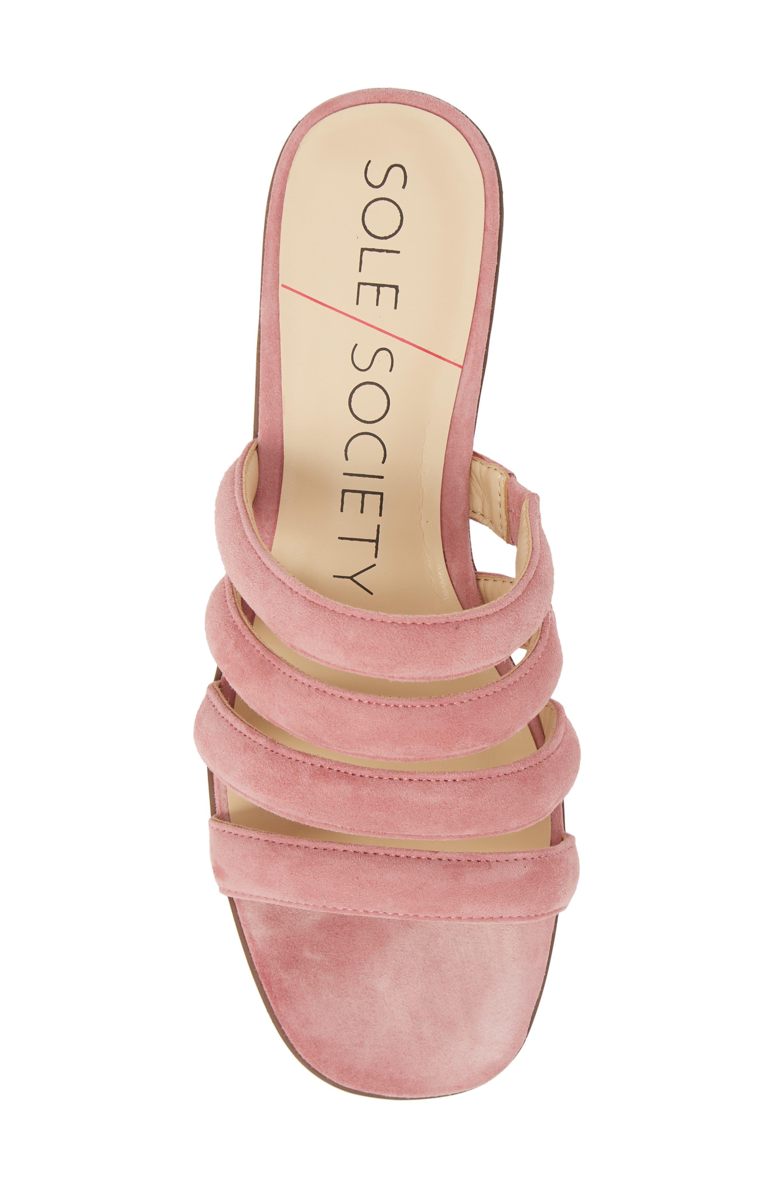 Saxten Strappy Slide Sandal,                             Alternate thumbnail 5, color,                             PRIMROSE