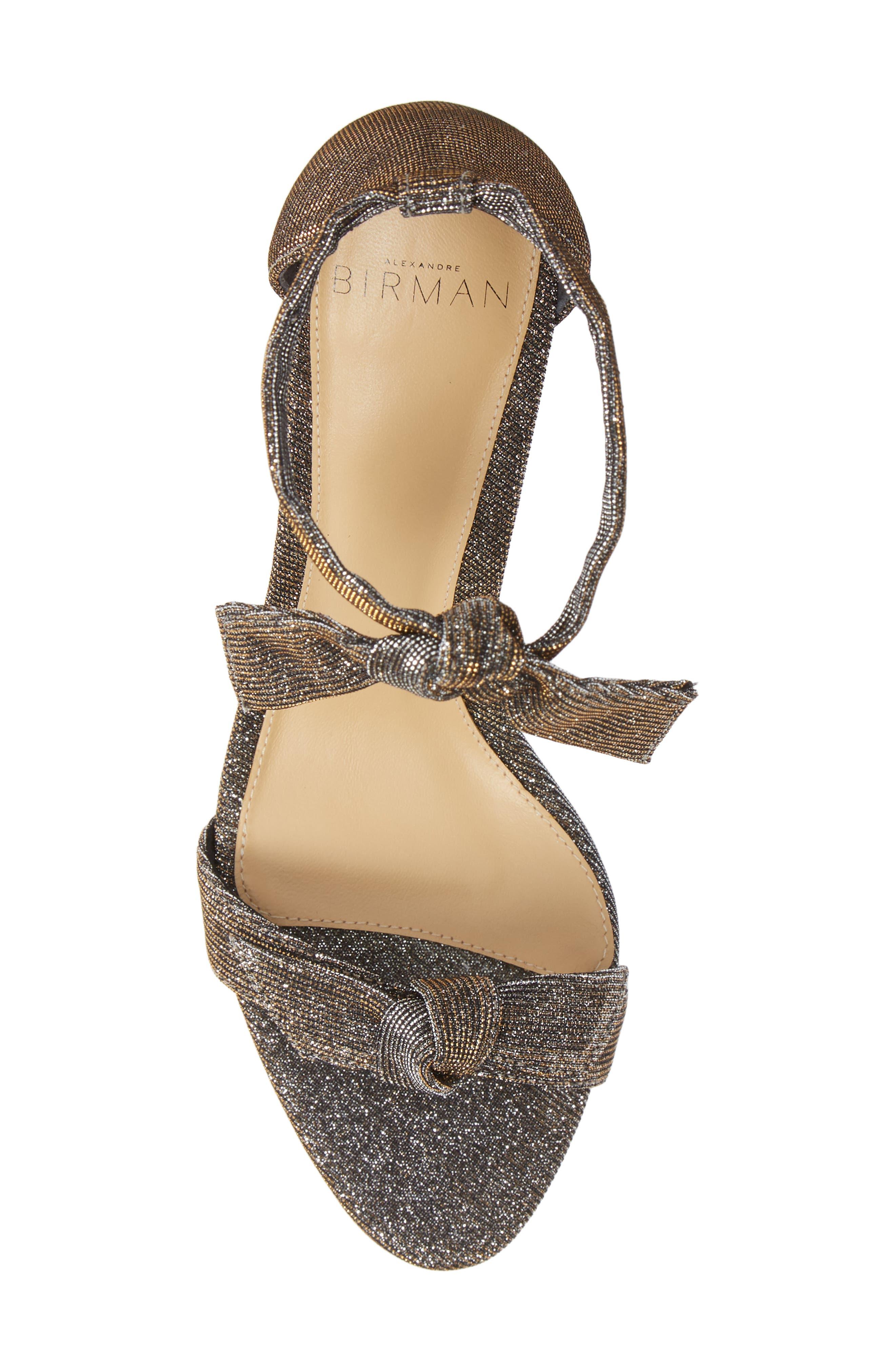 Clarita Ankle Strap Sandal,                             Alternate thumbnail 5, color,                             SILVER