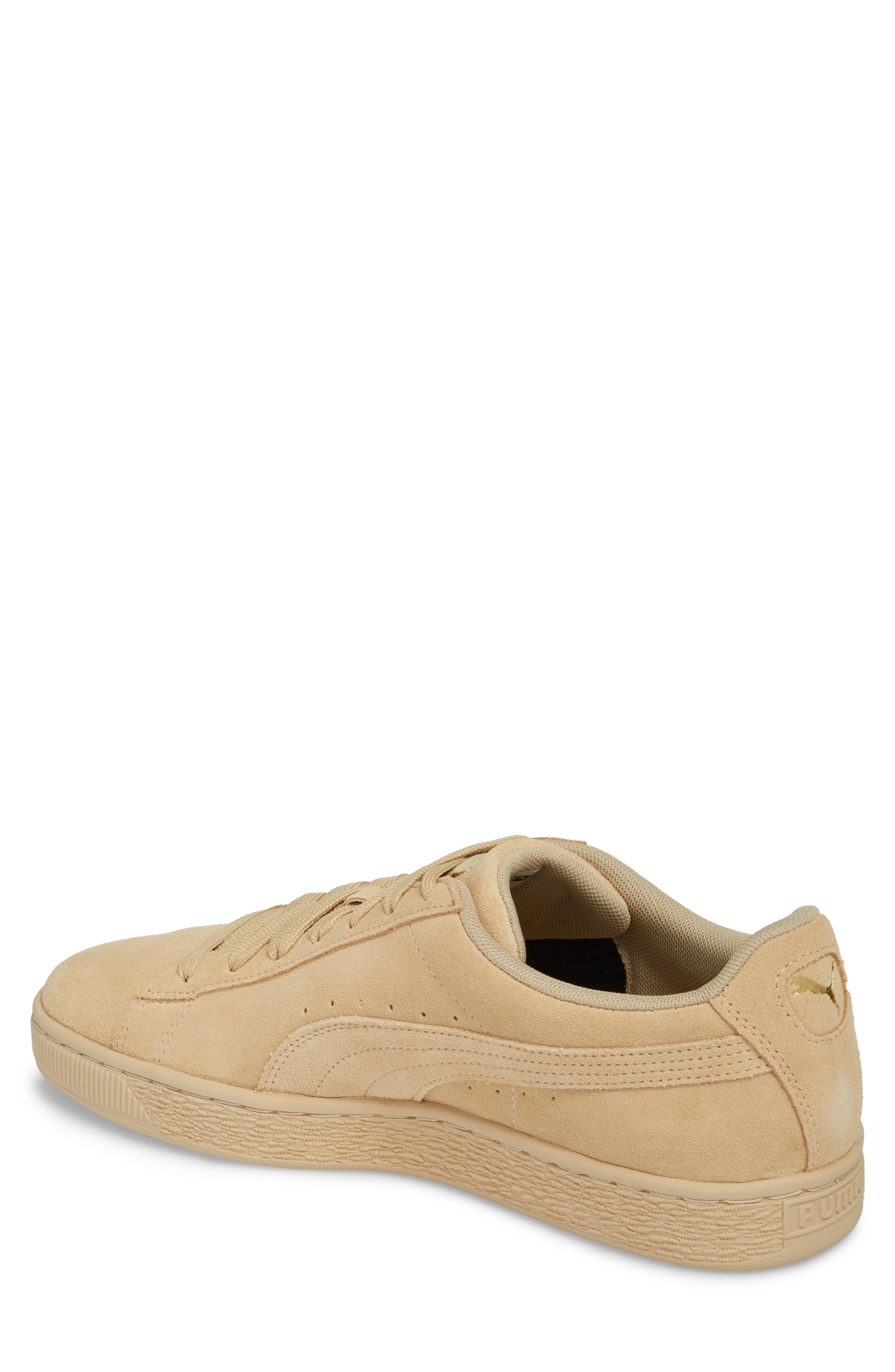 Suede Classic Tonal Sneaker,                             Alternate thumbnail 2, color,                             PEBBLE SUEDE