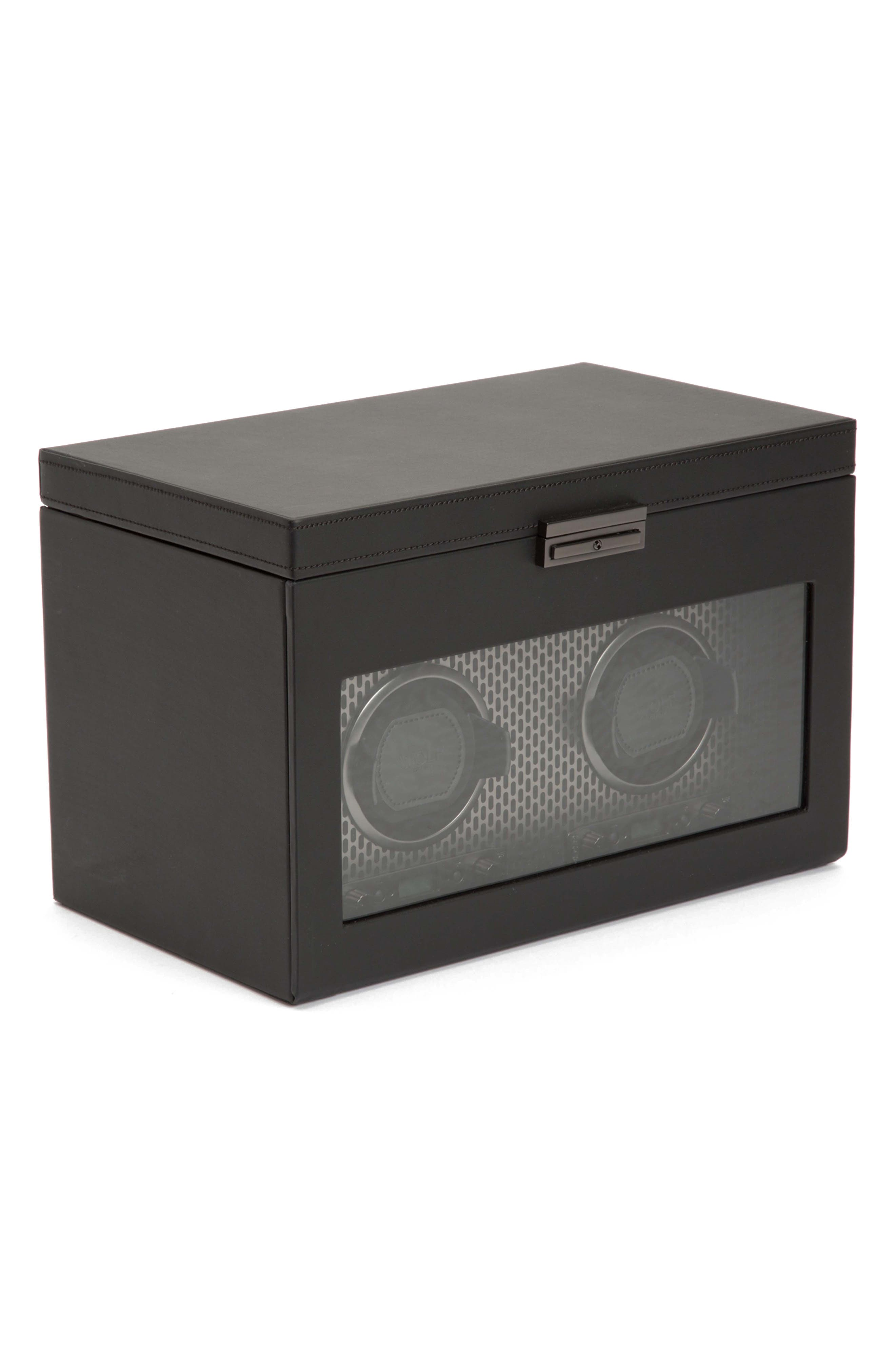 Axis Double Watch Winder & Case,                             Alternate thumbnail 9, color,                             POWDER COAT