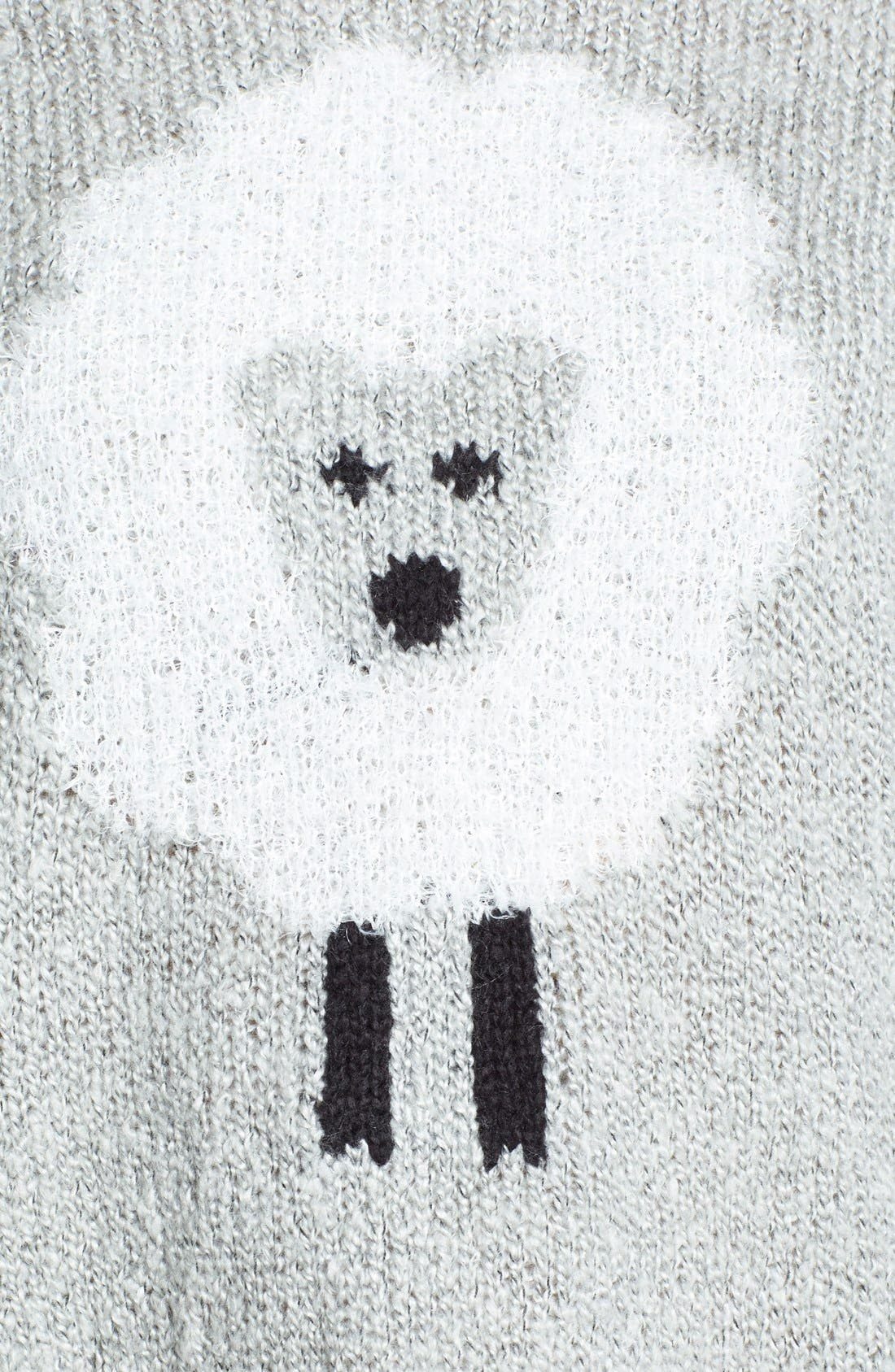 'Sheep' Fuzzy Knit Sweater,                             Alternate thumbnail 3, color,                             073
