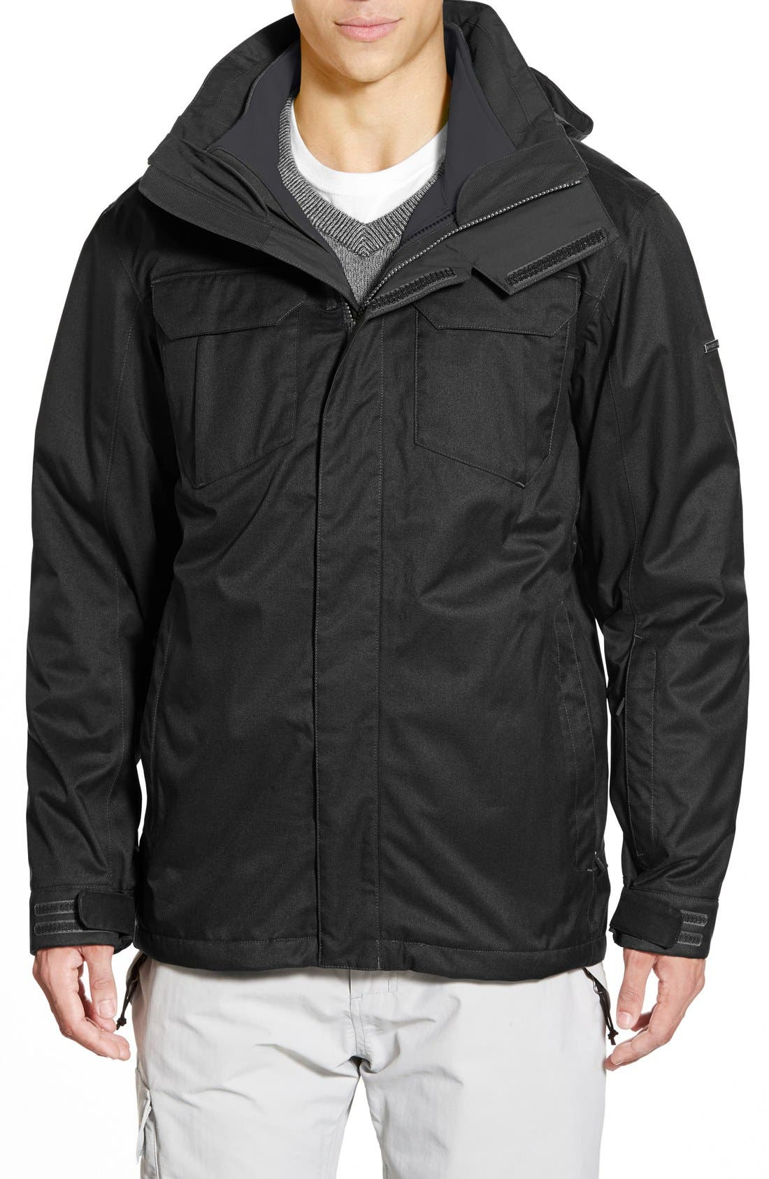 THE NORTH FACE,                             TriClimate<sup>®</sup> 3-in-1 Jacket,                             Main thumbnail 1, color,                             001