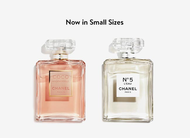 CHANEL fragrances now in small sizes.