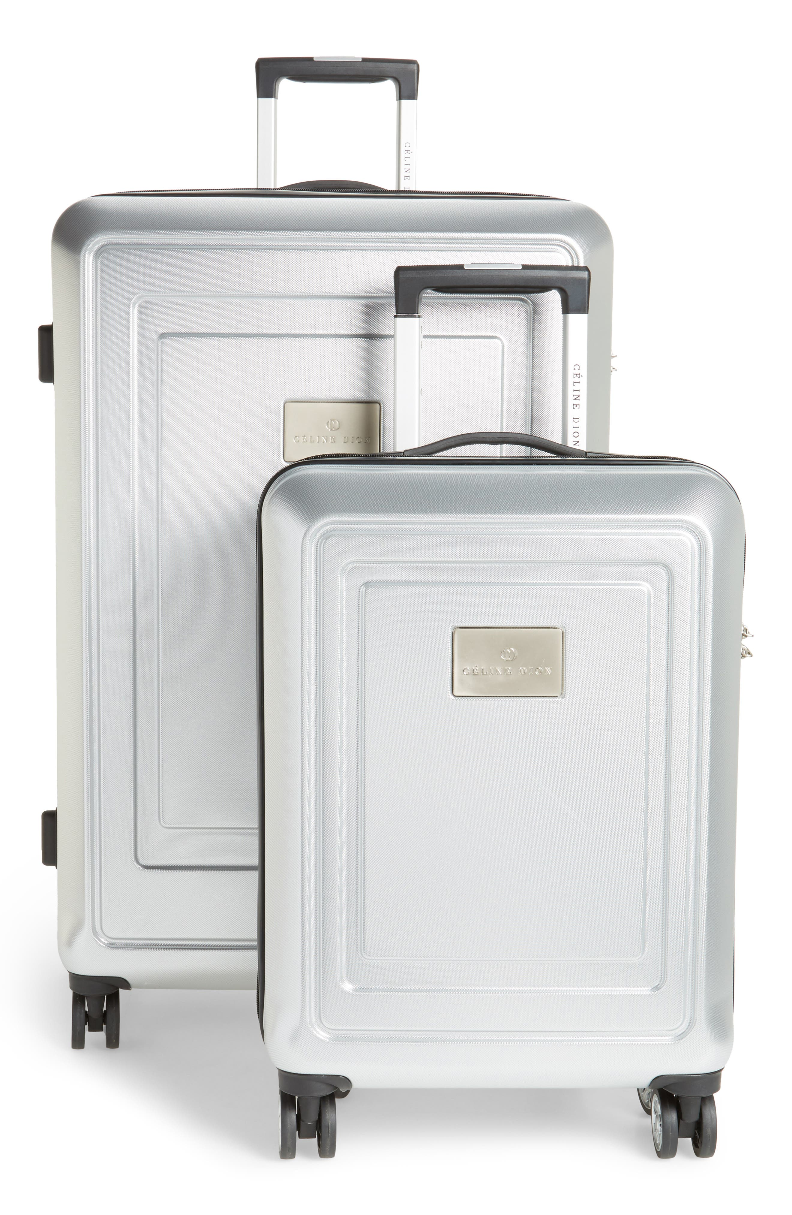 Céline Dion Timbre 2-Piece Rolling Hard-Shell Luggage Set, Main, color, 040