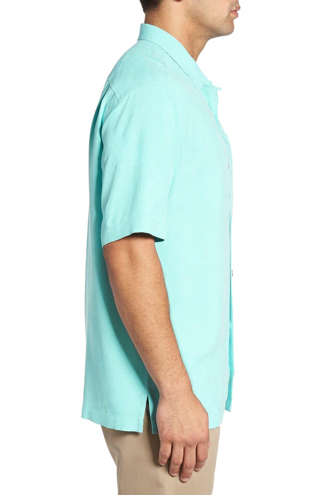Rio Fronds Short Sleeve Silk Sport Shirt,                             Alternate thumbnail 92, color,