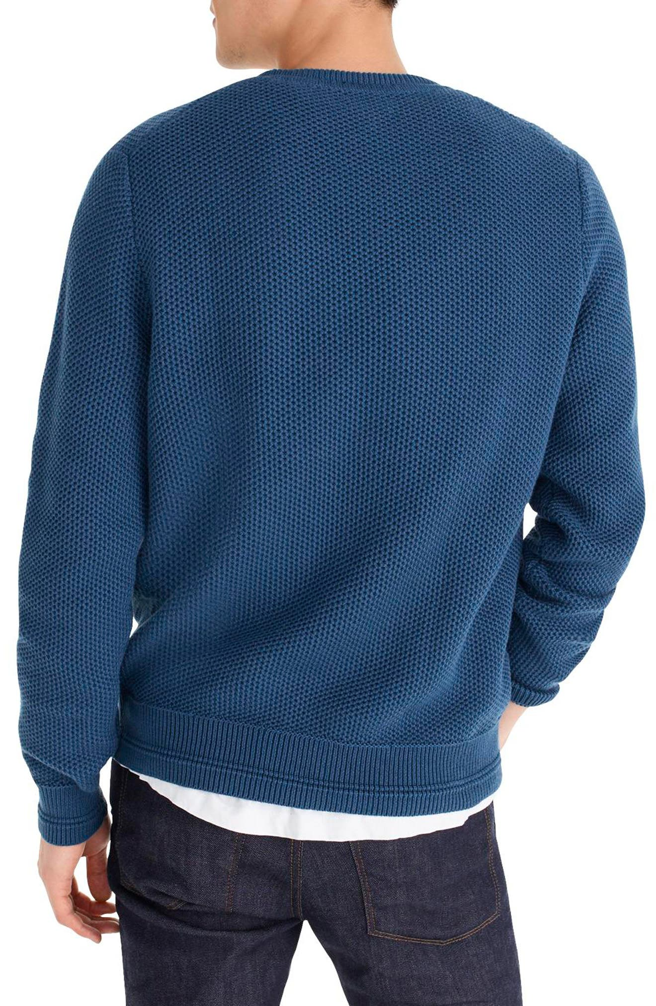 Honeycomb Cotton Crewneck Sweater,                             Alternate thumbnail 2, color,                             400