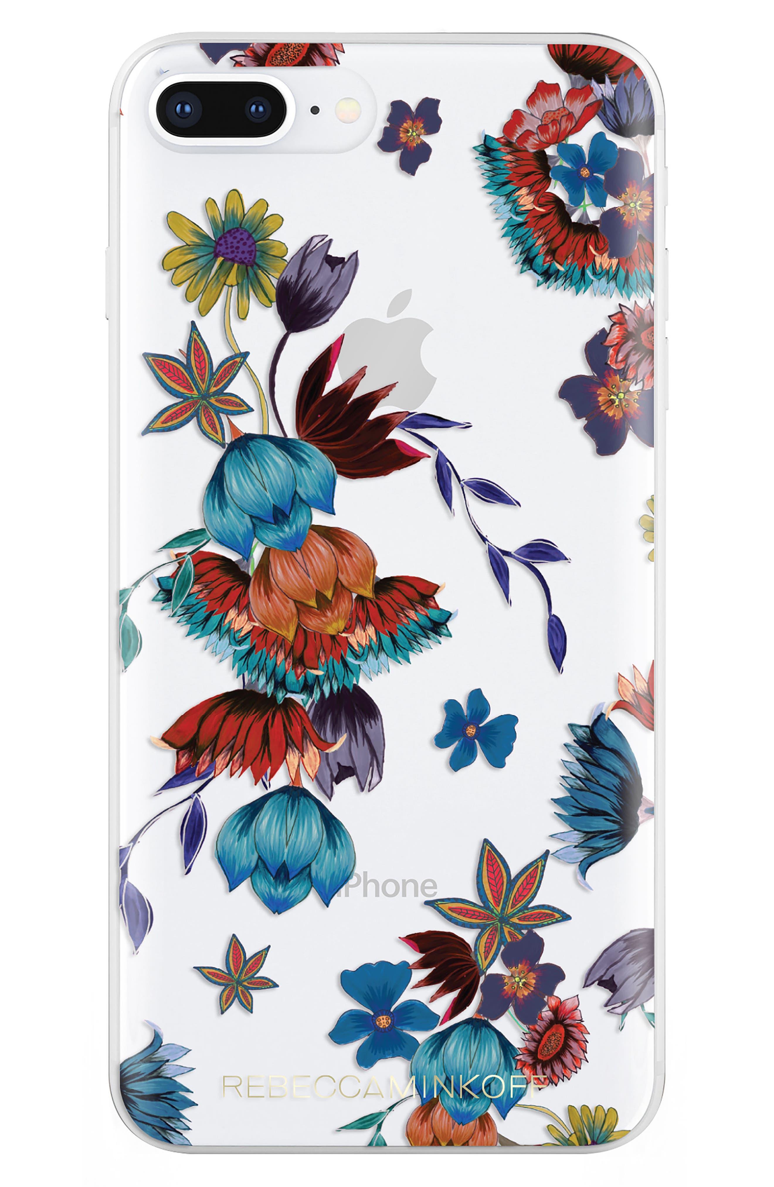 Punk Floral iPhone 7/8 & 7/8 Plus Case,                             Main thumbnail 1, color,                             400