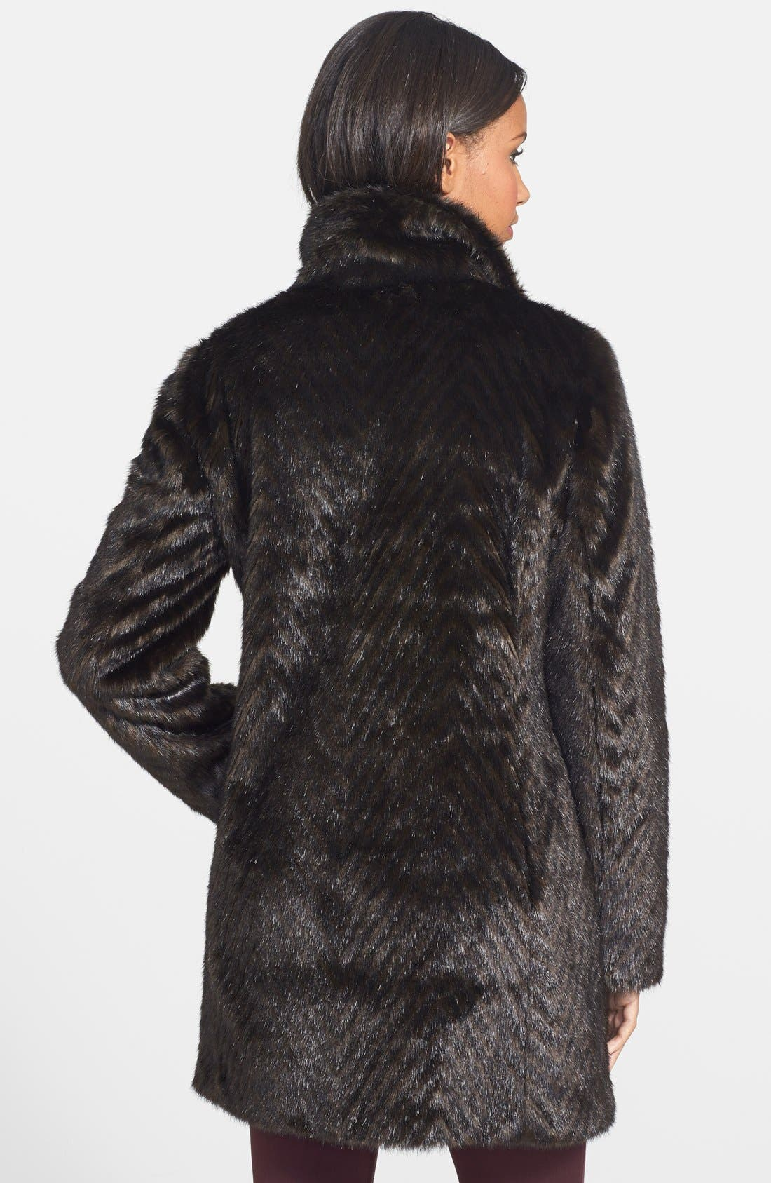 Faux Fur A-Line Coat,                             Alternate thumbnail 2, color,                             200