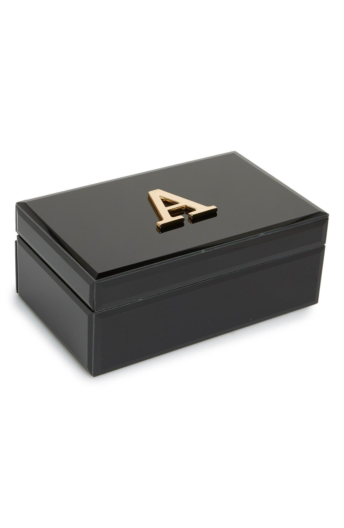 Monogram Jewelry Box,                         Main,                         color, 001