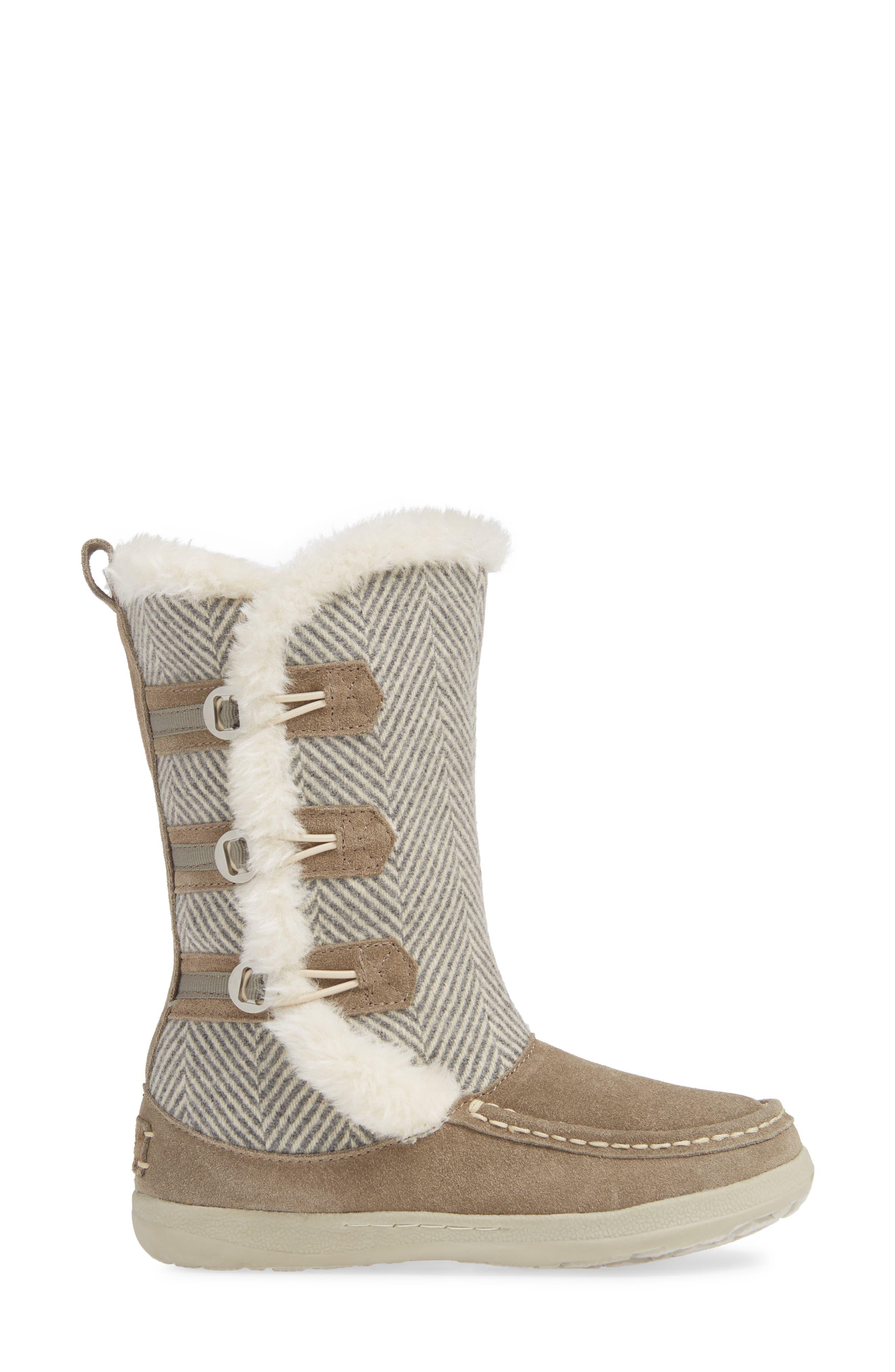 Elk Creek II Boot,                             Alternate thumbnail 3, color,                             STEEL/ HERRINGBONE SUEDE