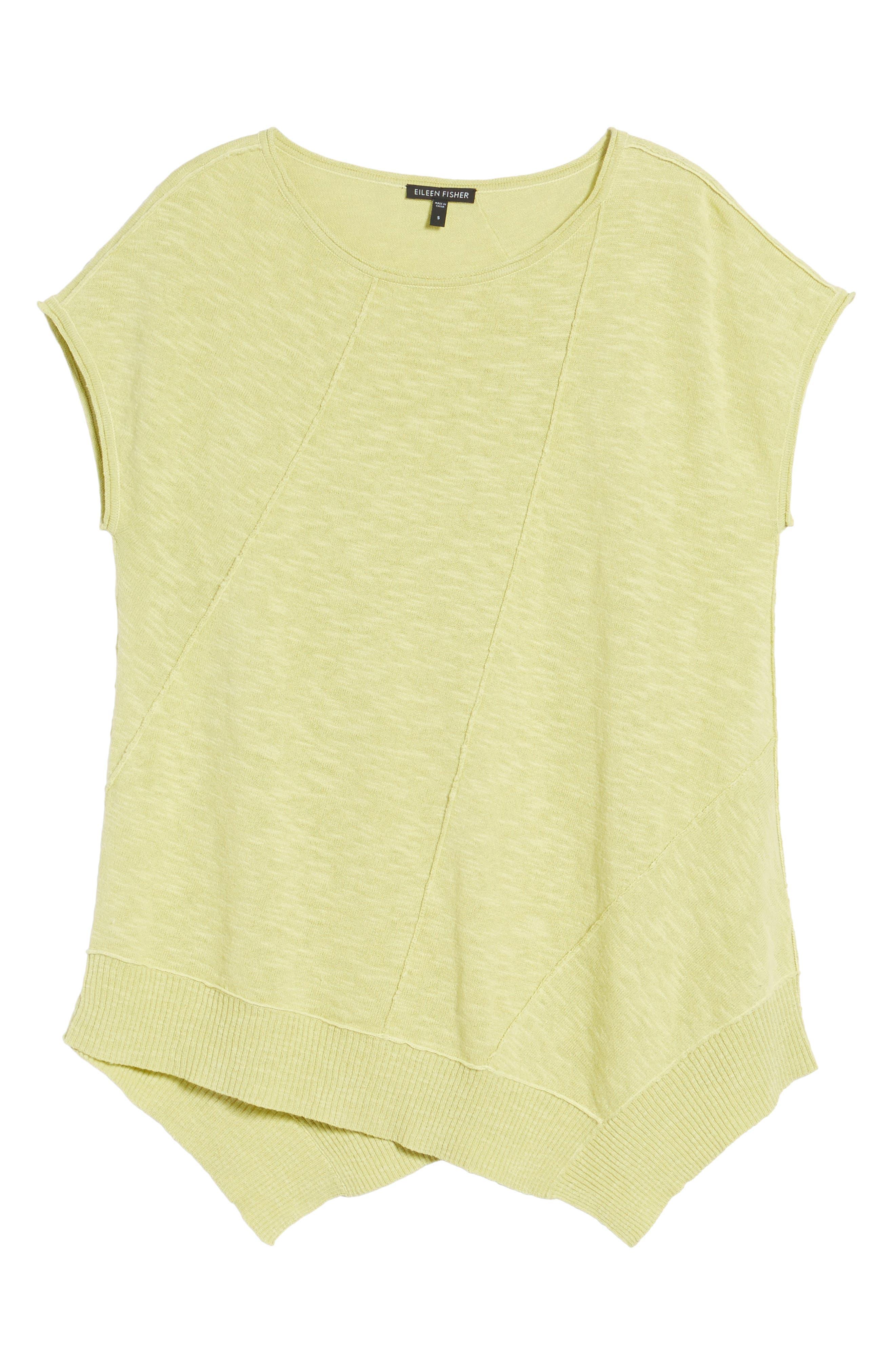 Cap Sleeve Organic Linen & Cotton Scoop Neck Top,                             Alternate thumbnail 76, color,