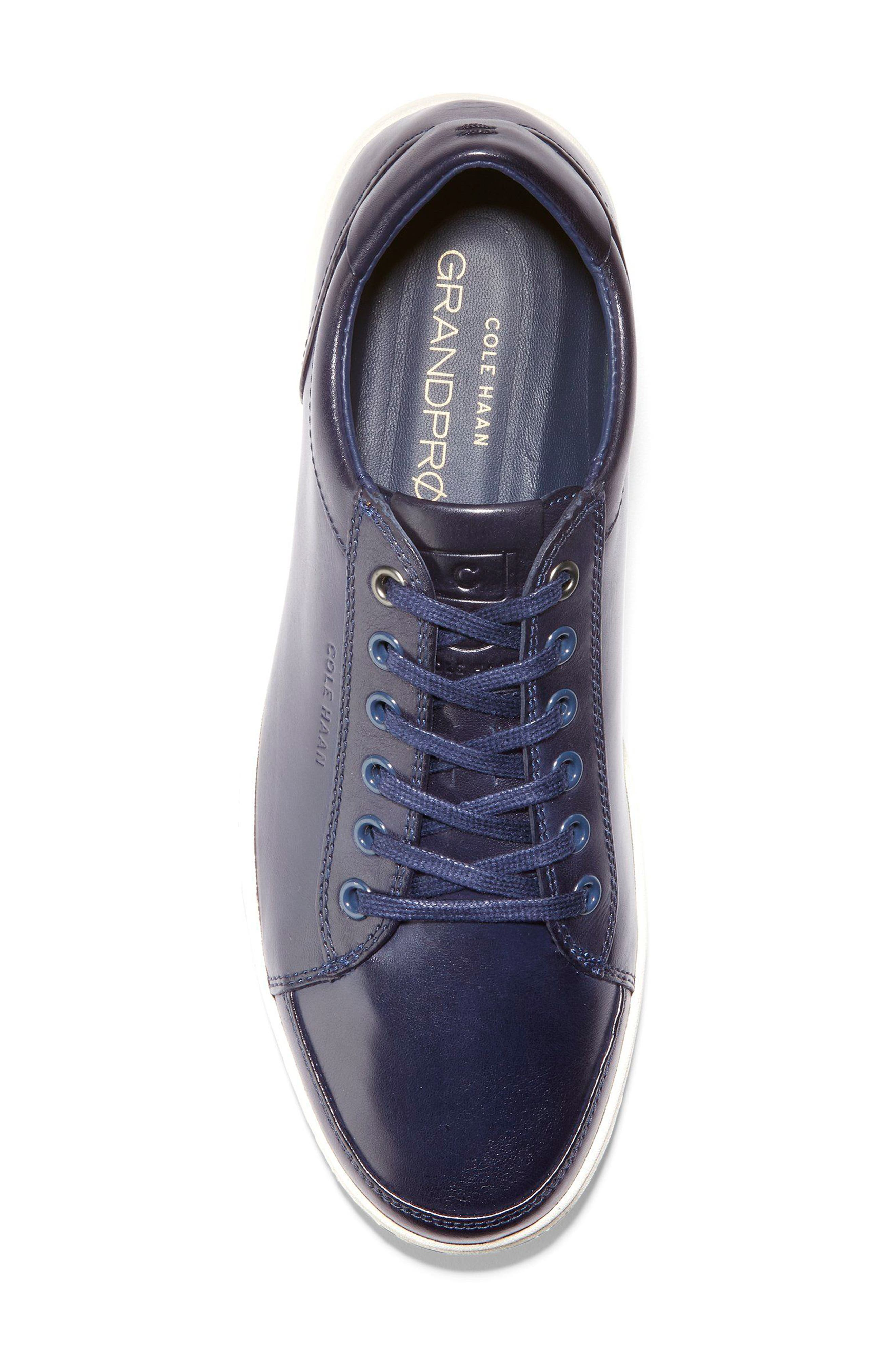 GrandPro Spectator Sneaker,                             Alternate thumbnail 5, color,                             BLAZER BLUE HANDSTAIN LEATHER