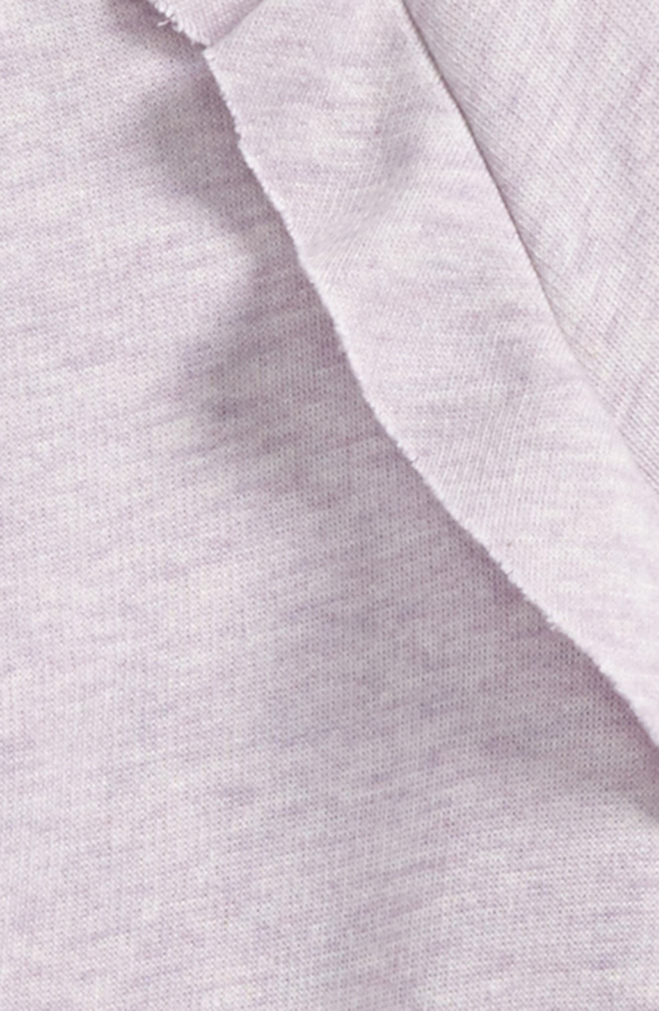 Ruffle Fleece Sweatshirt,                             Alternate thumbnail 2, color,                             PURPLE PETAL HEATHER