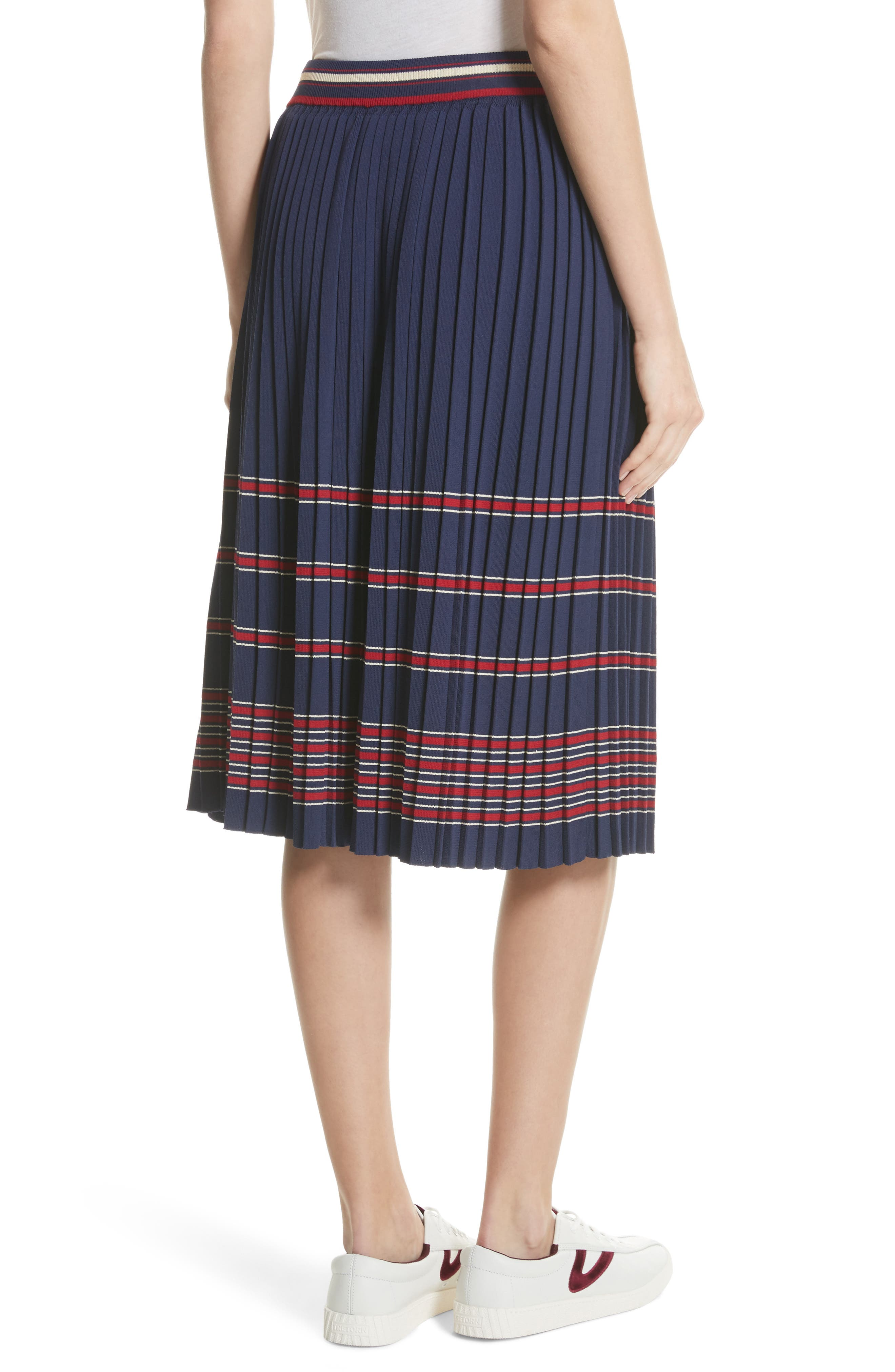 Pleated Midi Skirt,                             Alternate thumbnail 2, color,
