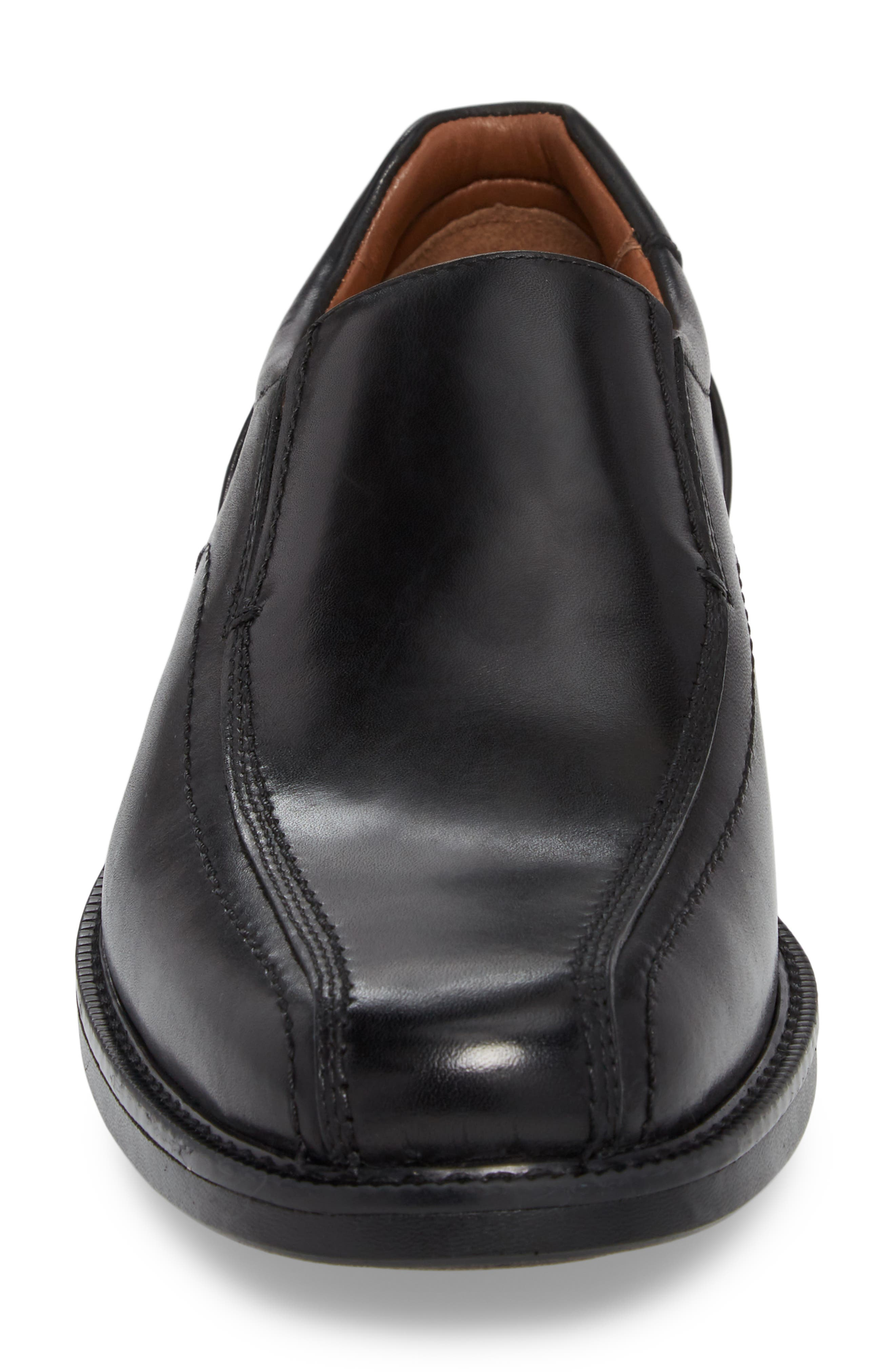 Stanton Runoff XC4<sup>®</sup> Waterproof Bike Toe Slip-On,                             Alternate thumbnail 4, color,                             BLACK LEATHER