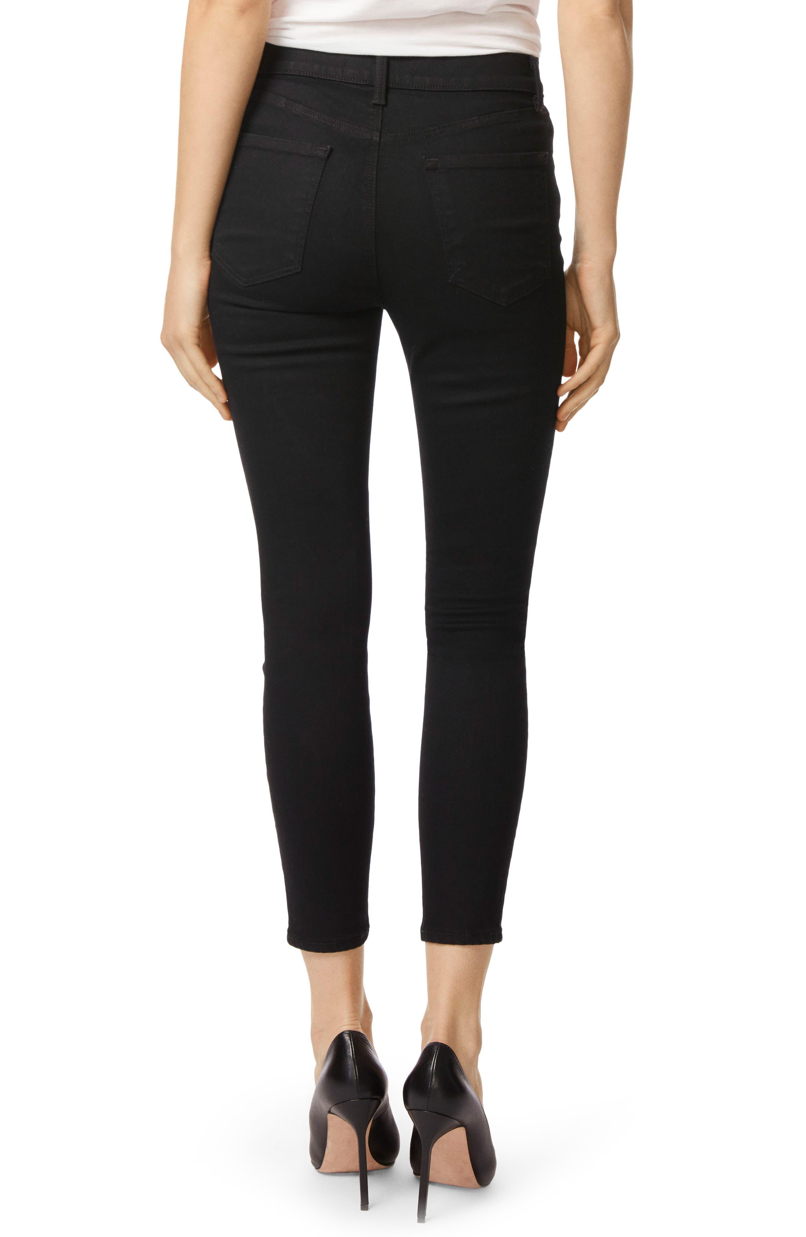Alana High Waist Crop Skinny Jeans,                             Alternate thumbnail 3, color,                             002