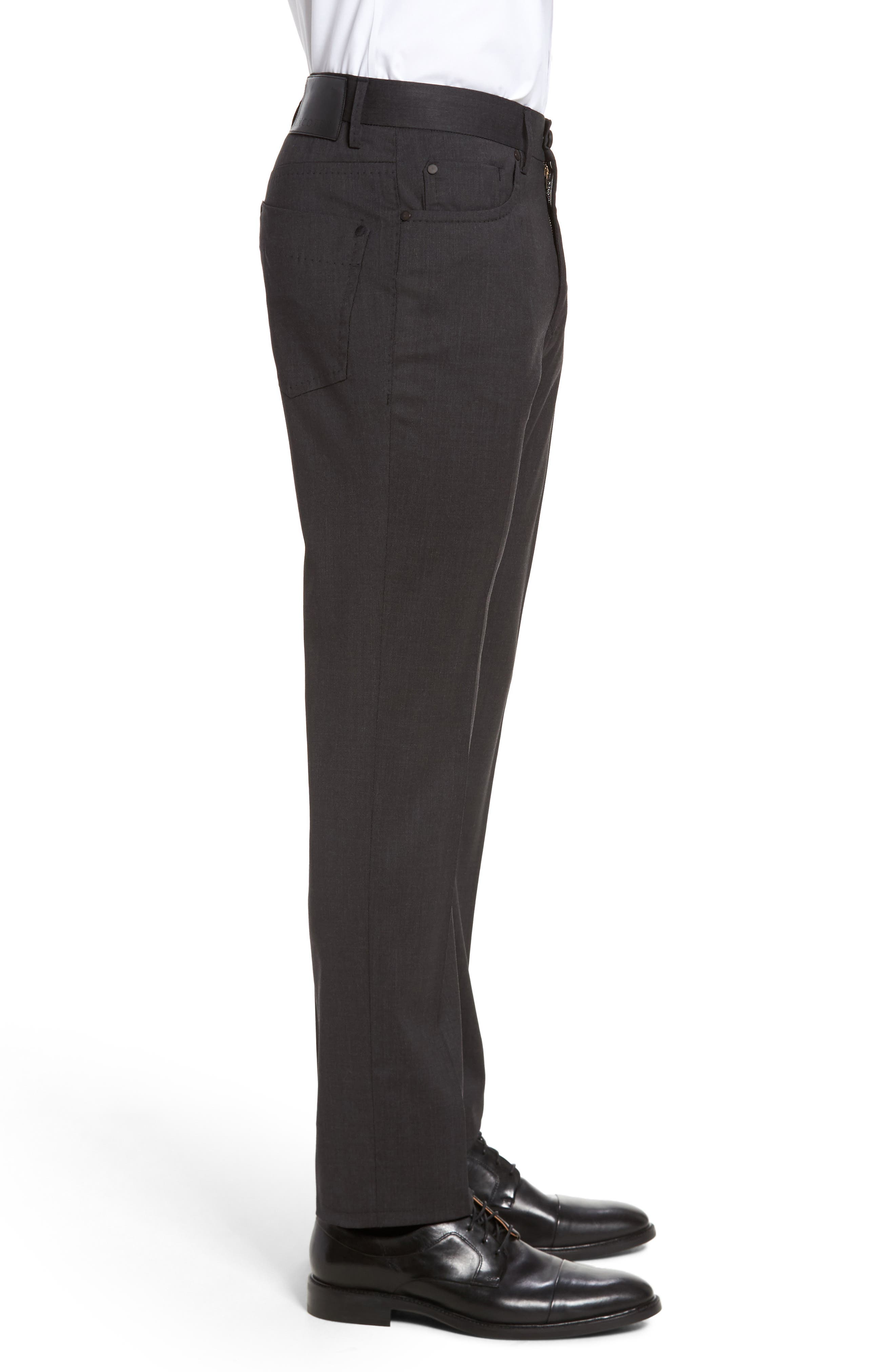 Five-Pocket Stretch Wool Pants,                             Alternate thumbnail 3, color,                             015