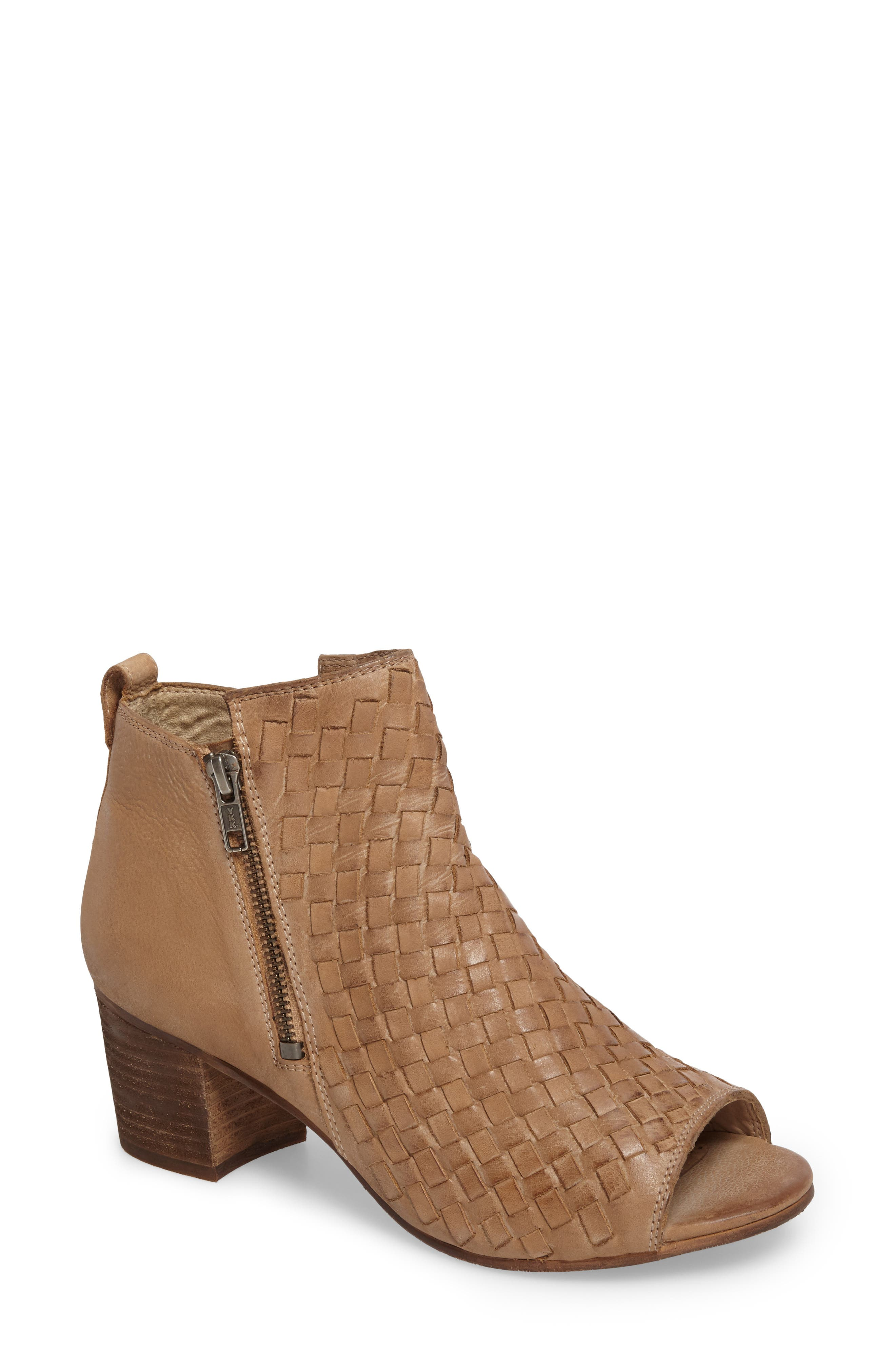 Cacey Open Toe Bootie,                             Main thumbnail 2, color,