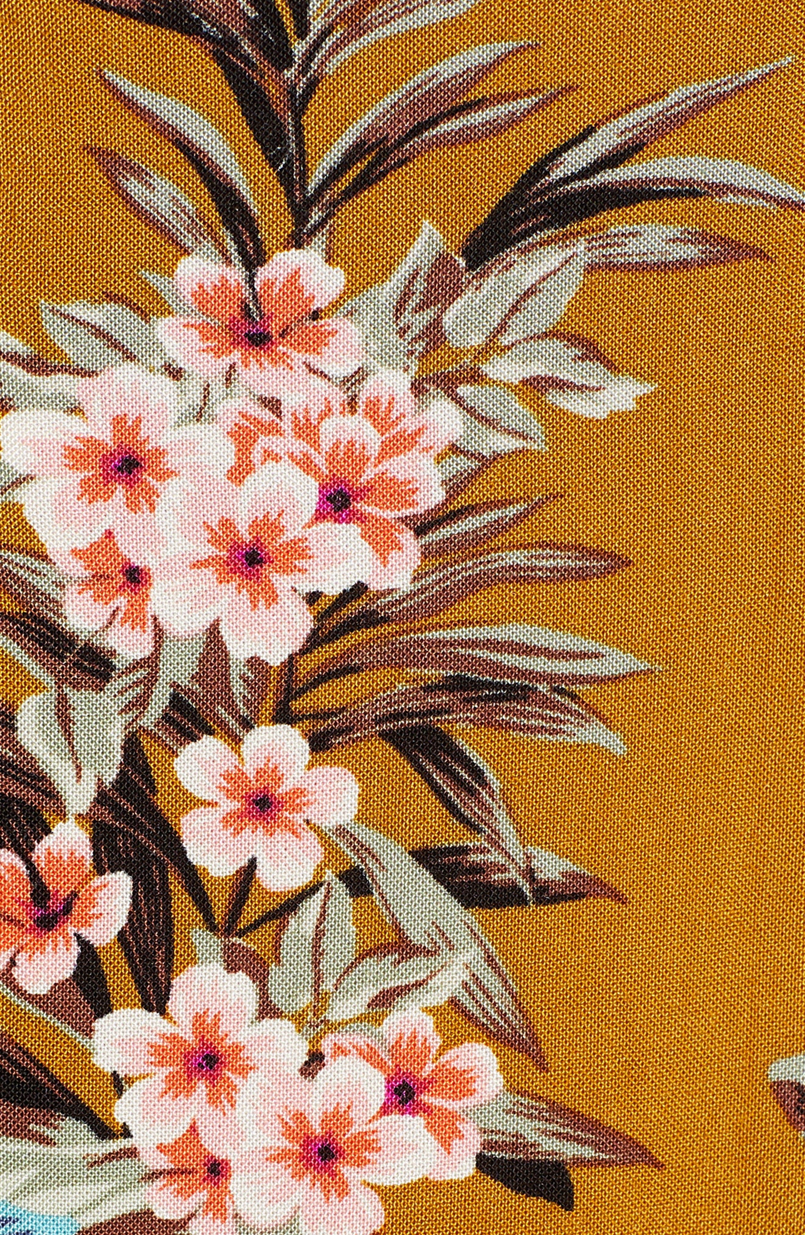 BP.,                             Floral Tie Strap Maxi Dress,                             Alternate thumbnail 6, color,                             BROWN BRONZE KRISTA FLORAL