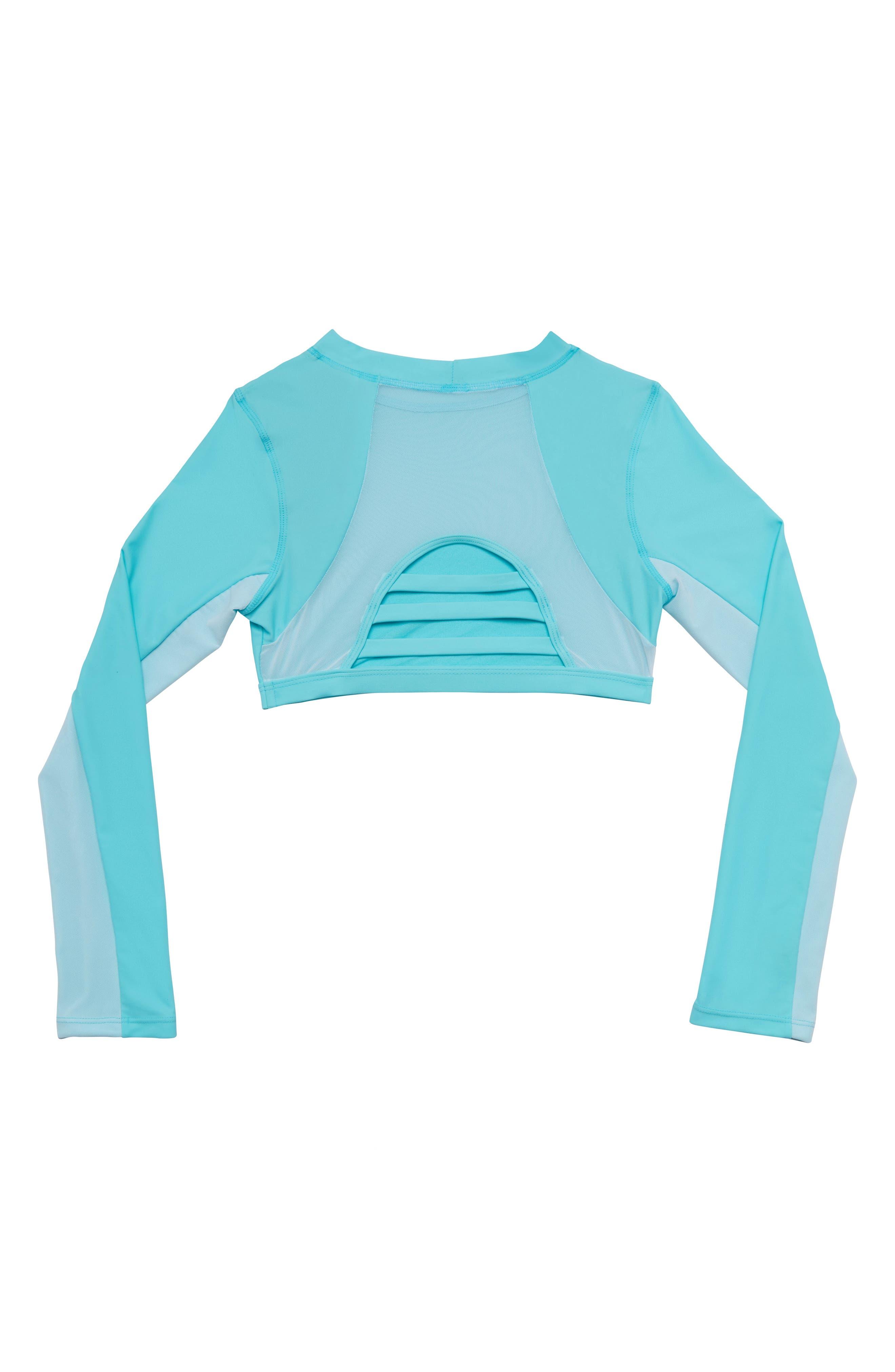 Rashguard Mesh Swim Top,                             Alternate thumbnail 2, color,                             BLUE